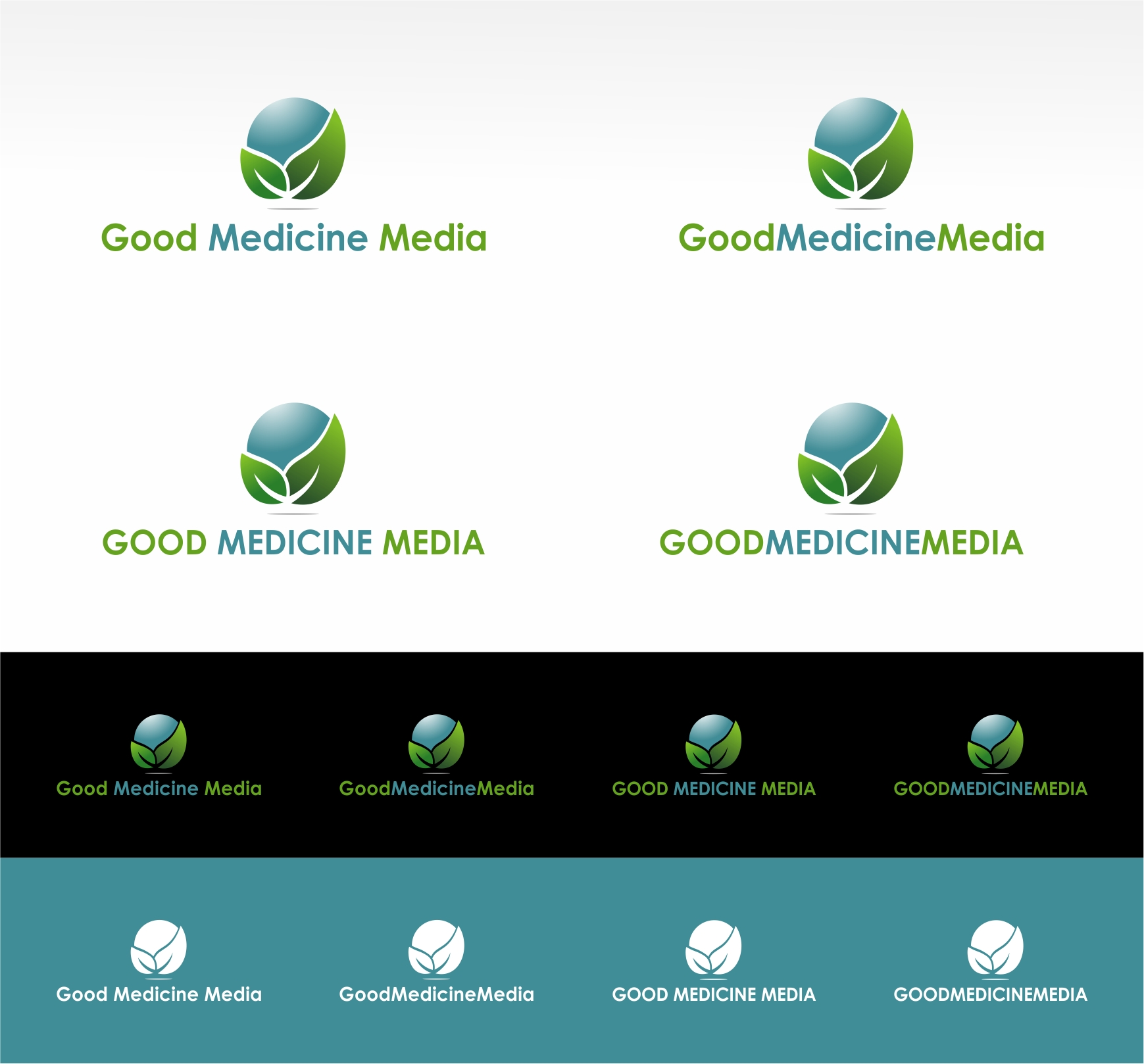 Logo Design by haidu - Entry No. 232 in the Logo Design Contest Good Medicine Media Logo Design.