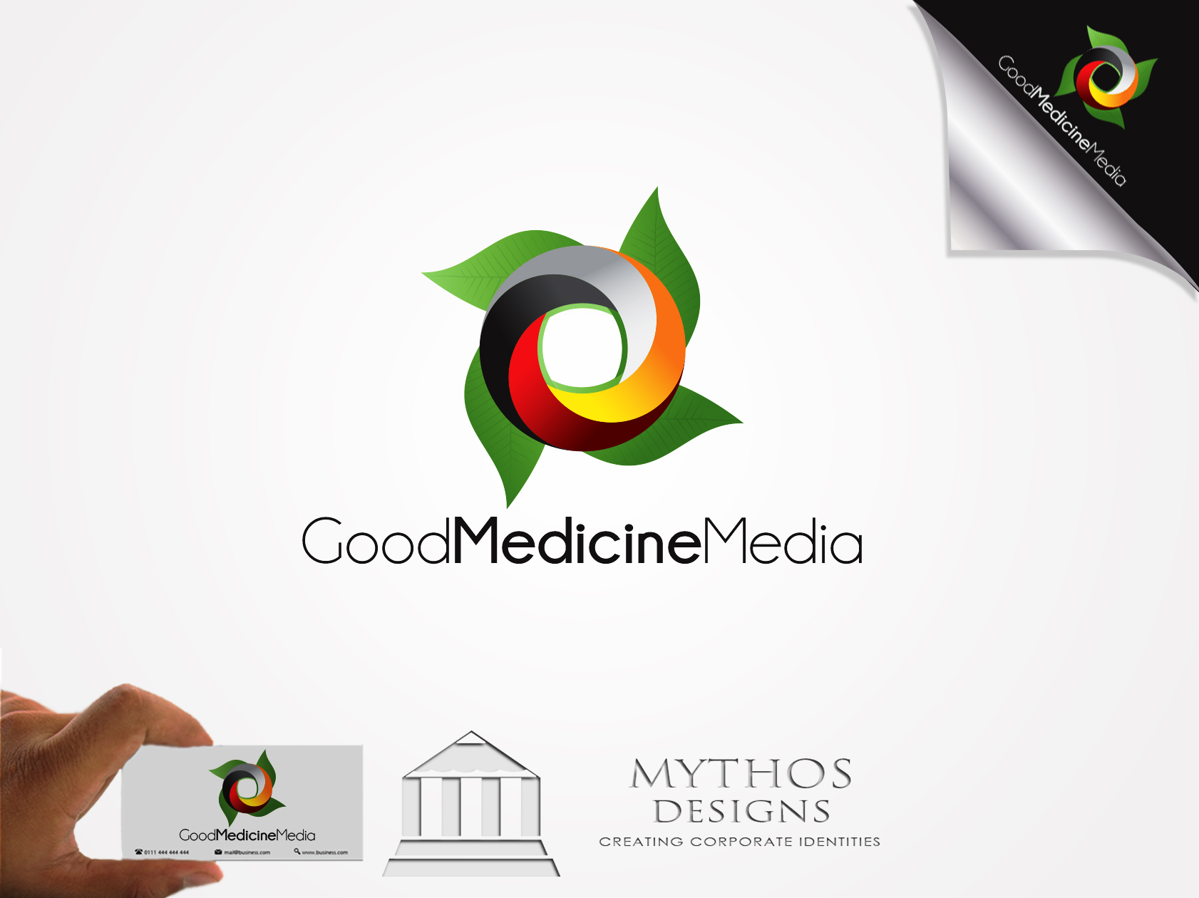 Logo Design by Mythos Designs - Entry No. 233 in the Logo Design Contest Good Medicine Media Logo Design.