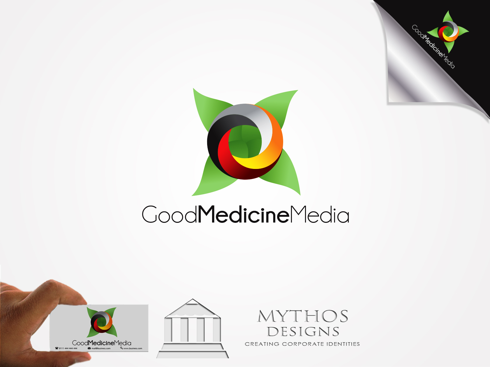 Logo Design by Mythos Designs - Entry No. 234 in the Logo Design Contest Good Medicine Media Logo Design.