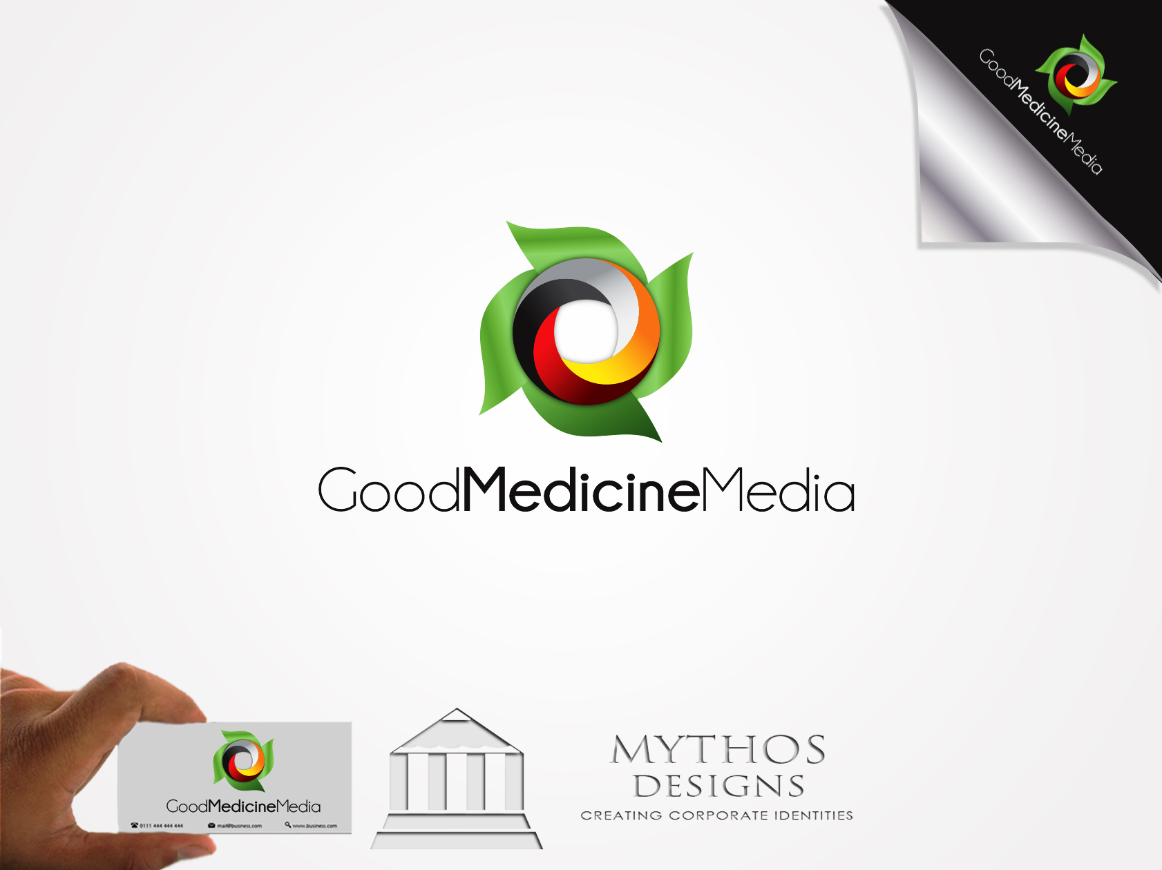 Logo Design by Mythos Designs - Entry No. 237 in the Logo Design Contest Good Medicine Media Logo Design.