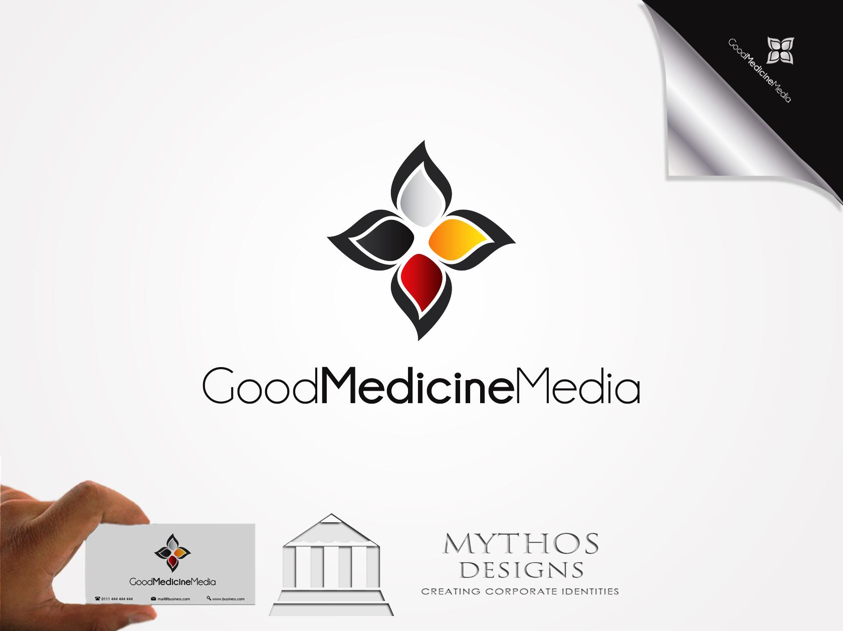 Logo Design by Mythos Designs - Entry No. 238 in the Logo Design Contest Good Medicine Media Logo Design.