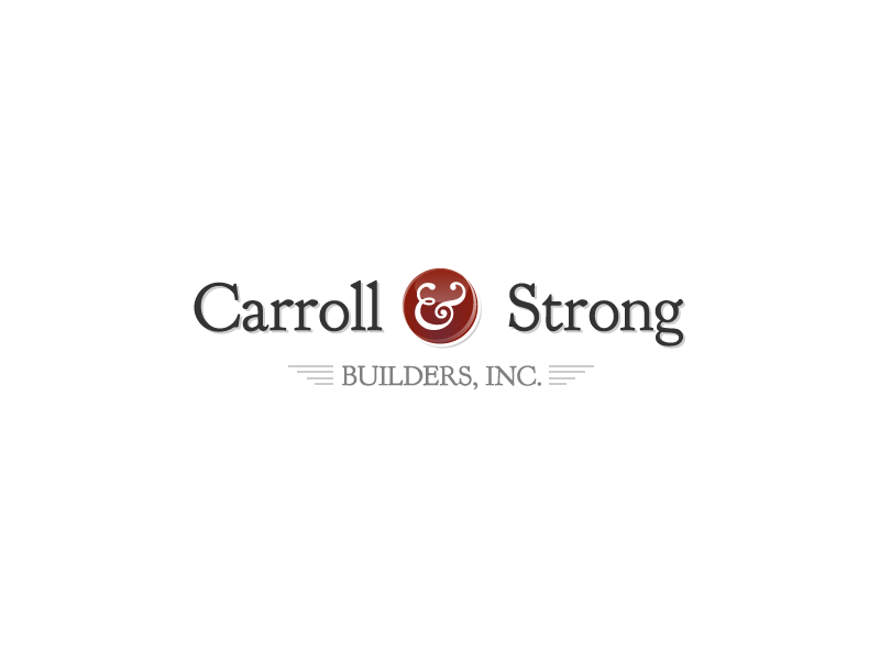 Logo Design by Stephen Young - Entry No. 67 in the Logo Design Contest New Logo Design for Carroll & Strong Builders, Inc..
