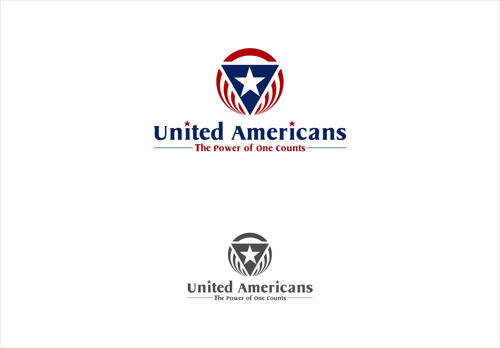 Logo Design by haidu - Entry No. 151 in the Logo Design Contest Creative Logo Design for United Americans.