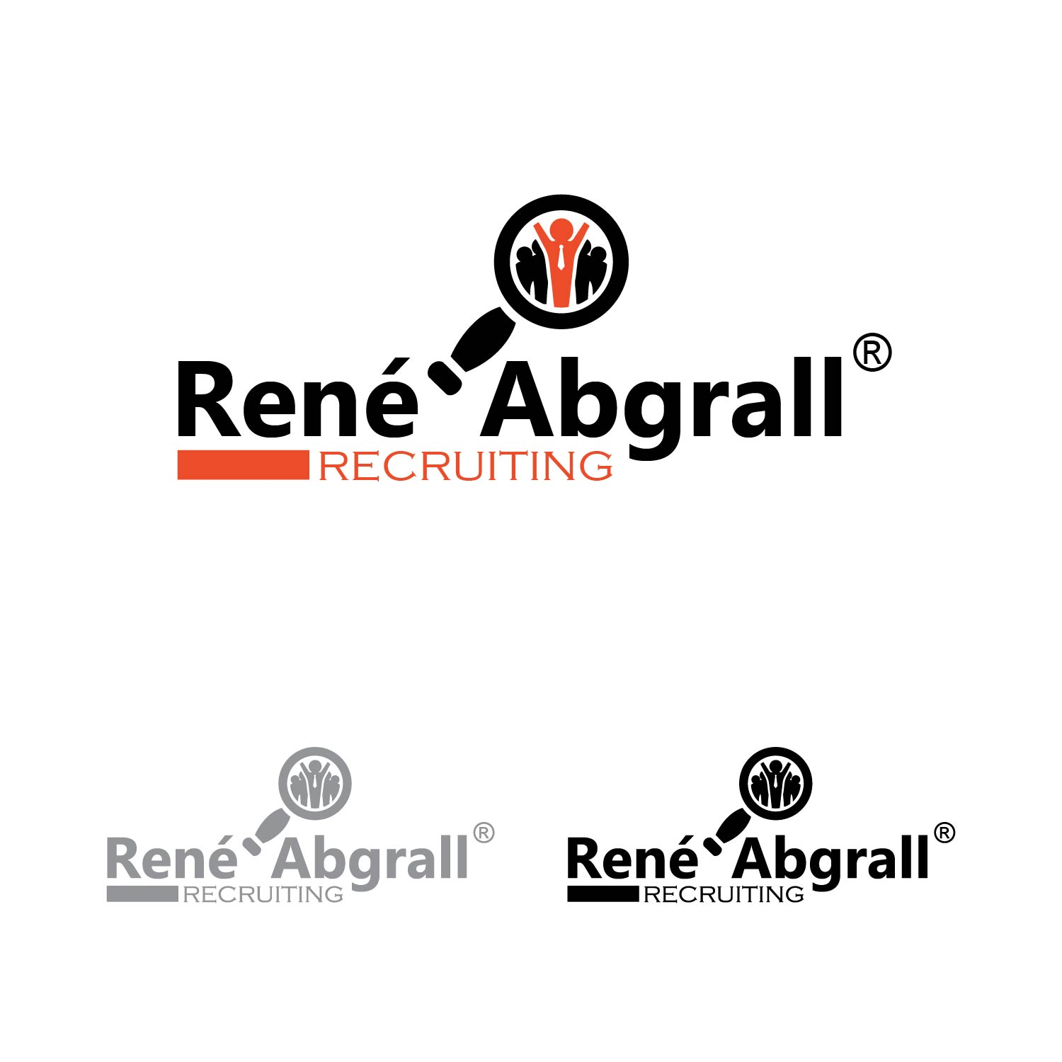 Logo Design by lagalag - Entry No. 4 in the Logo Design Contest Artistic Logo Design for René Abgrall Recruiting.