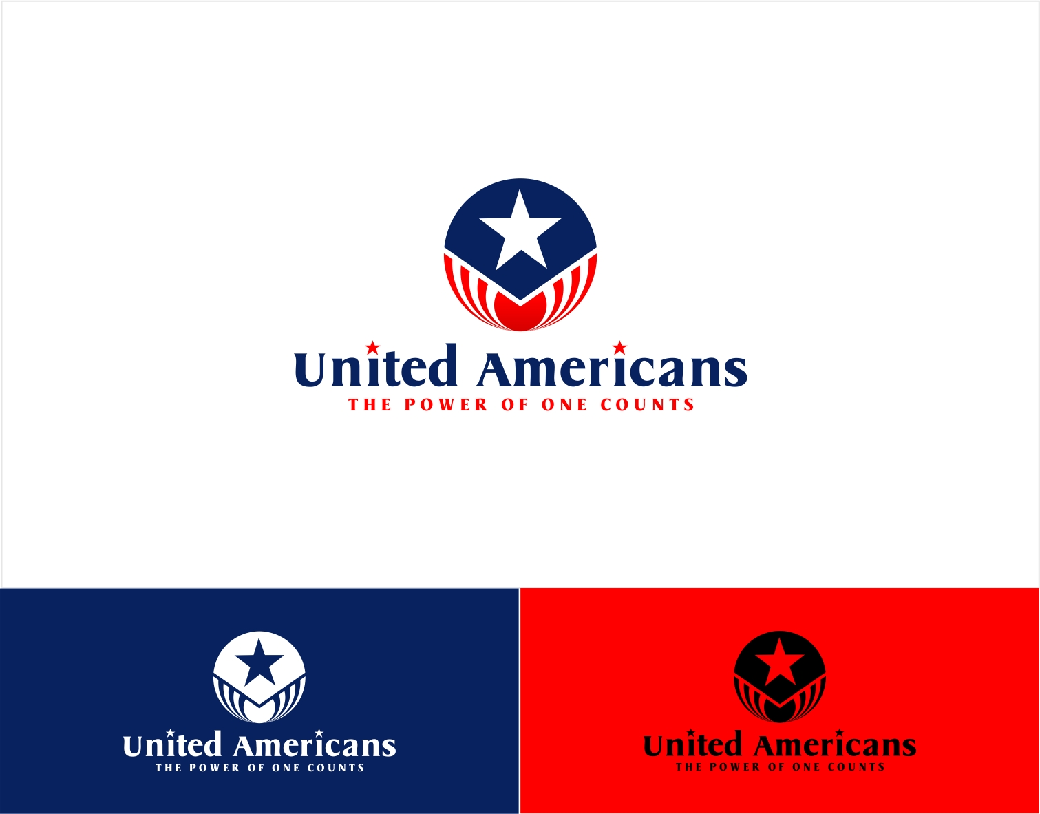 Logo Design by haidu - Entry No. 157 in the Logo Design Contest Creative Logo Design for United Americans.