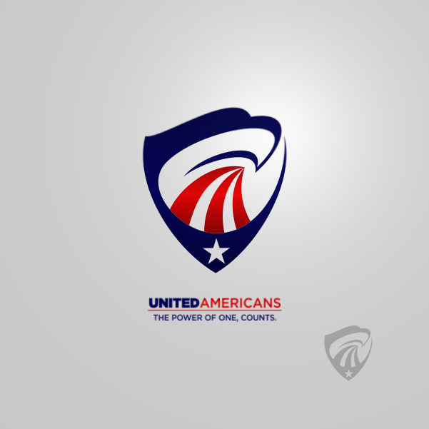 Logo Design by Private User - Entry No. 158 in the Logo Design Contest Creative Logo Design for United Americans.
