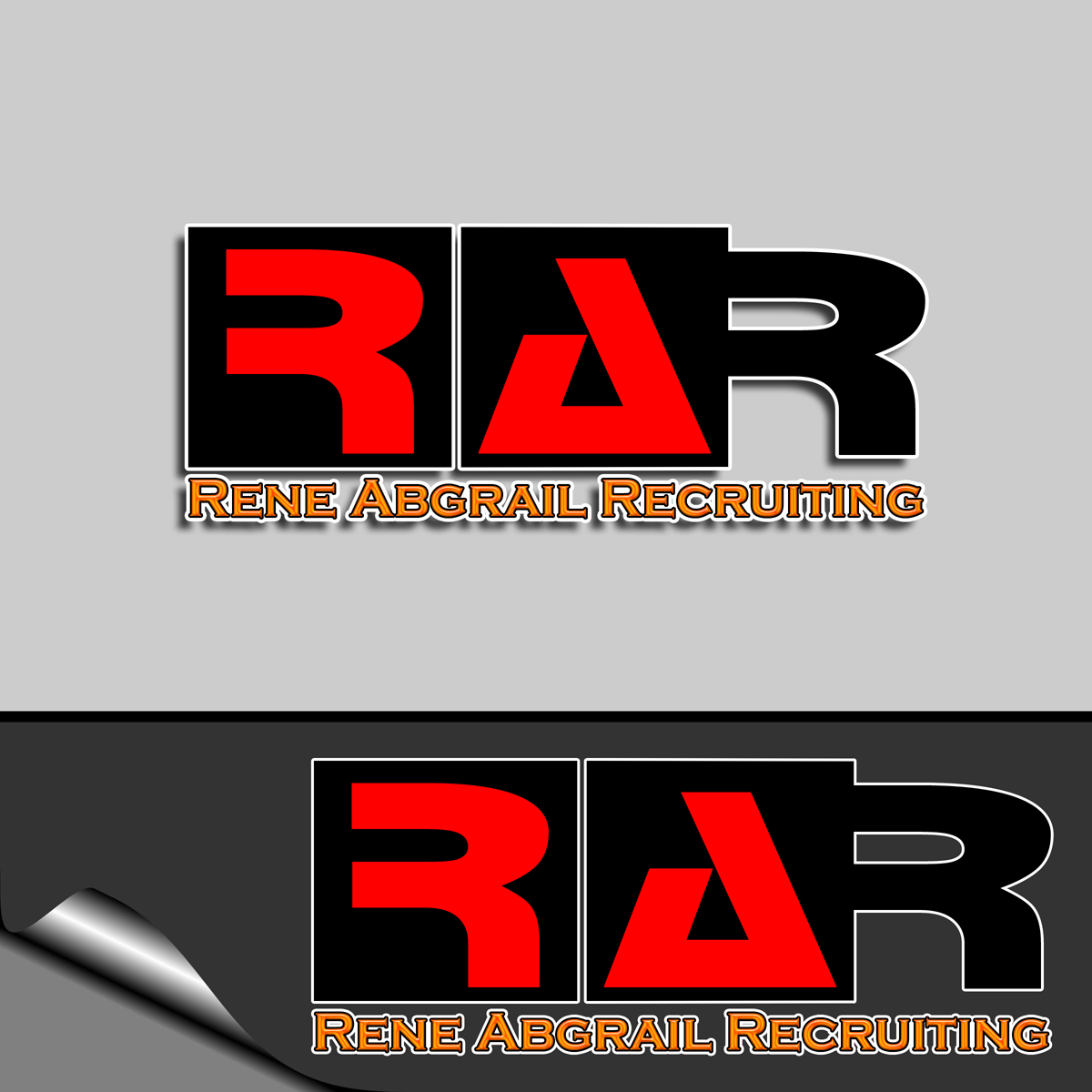 Logo Design by MITUCA ANDREI - Entry No. 5 in the Logo Design Contest Artistic Logo Design for René Abgrall Recruiting.