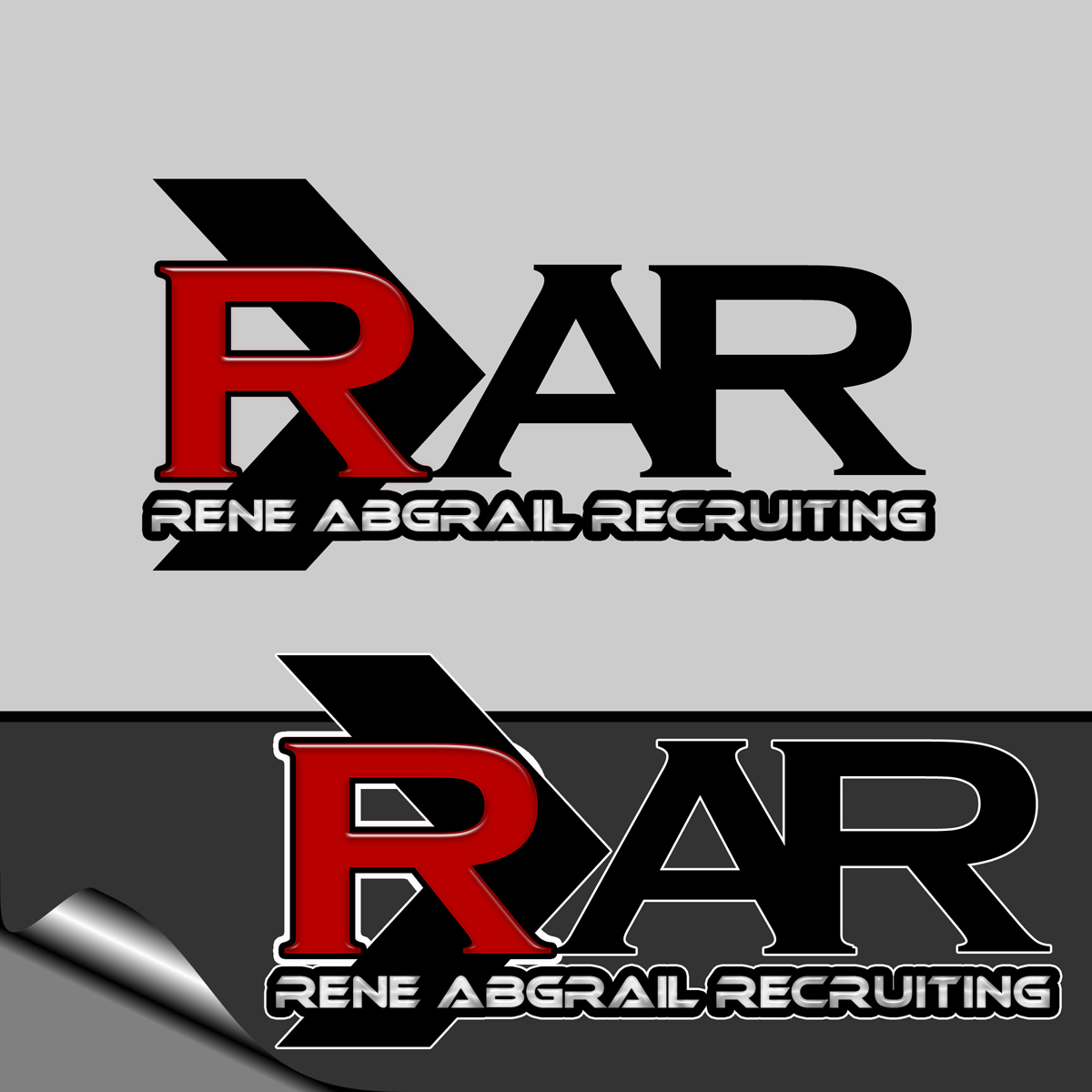Logo Design by MITUCA ANDREI - Entry No. 6 in the Logo Design Contest Artistic Logo Design for René Abgrall Recruiting.