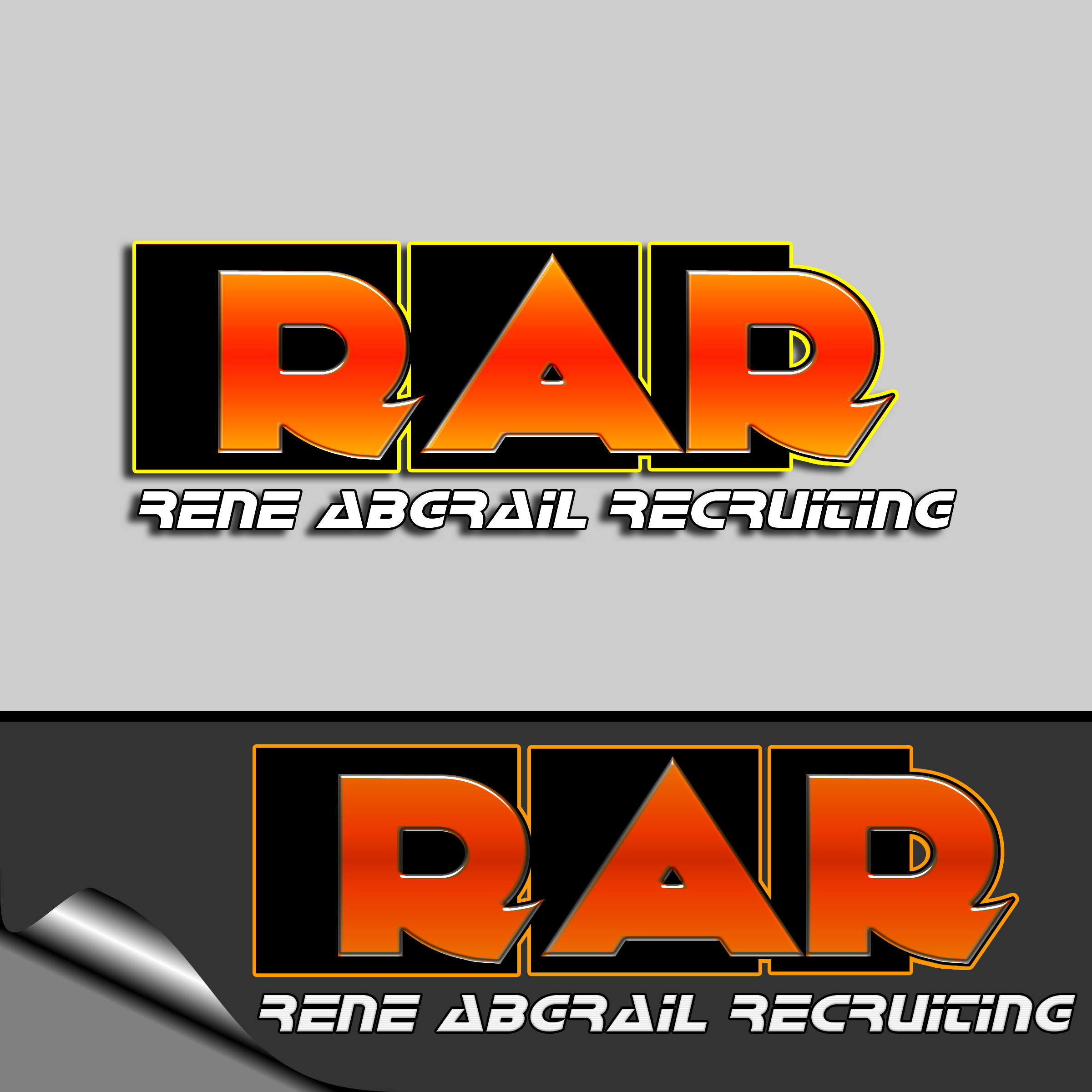 Logo Design by MITUCA ANDREI - Entry No. 7 in the Logo Design Contest Artistic Logo Design for René Abgrall Recruiting.