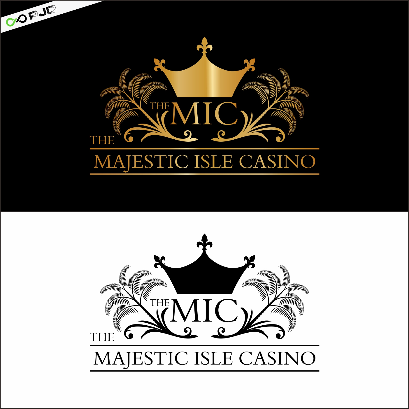 Logo Design by PJD - Entry No. 40 in the Logo Design Contest New Logo Design for The Majestic Isle Casino.