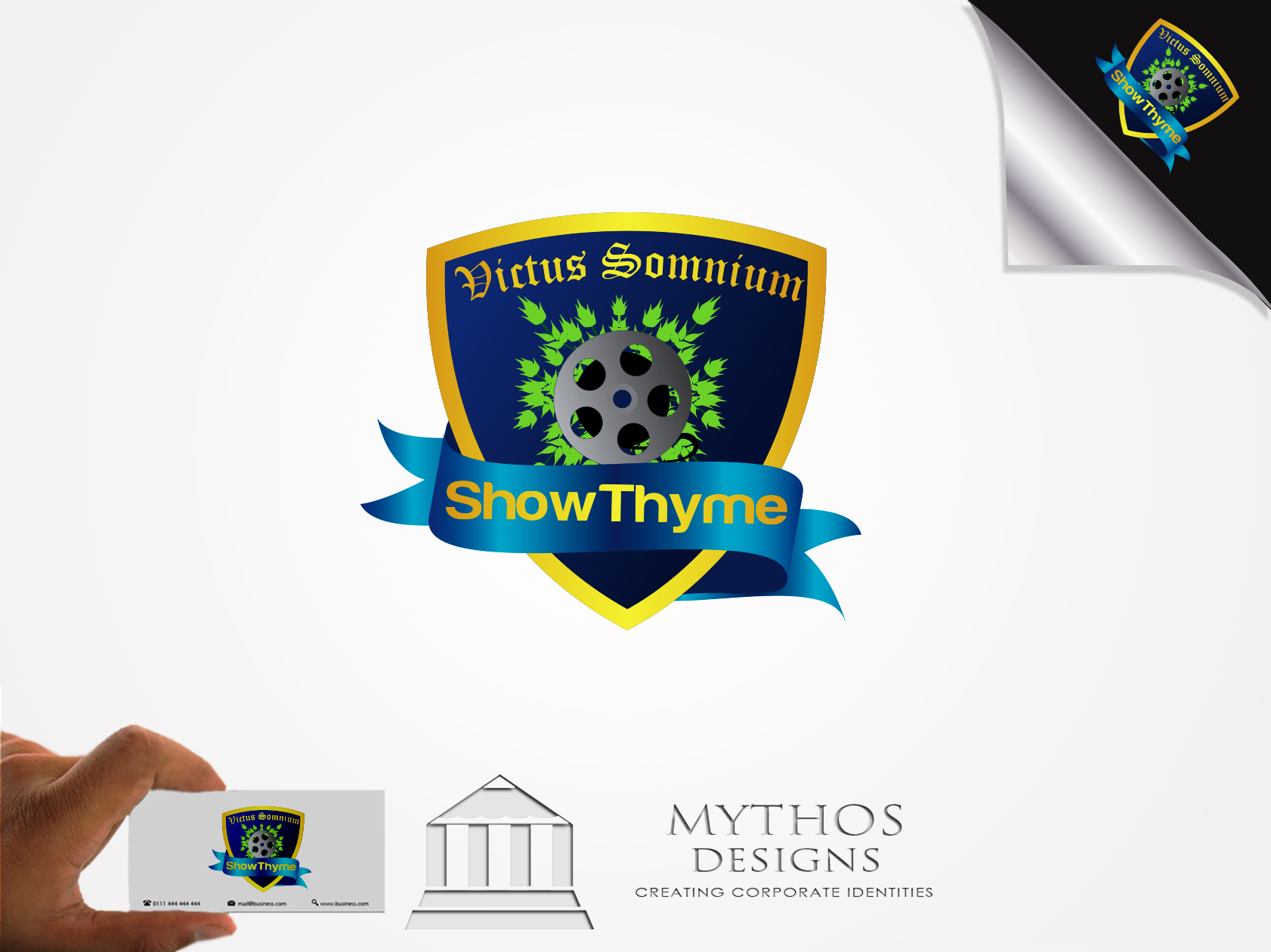 Logo Design by Mythos Designs - Entry No. 46 in the Logo Design Contest Showthyme Catering Logo Design.