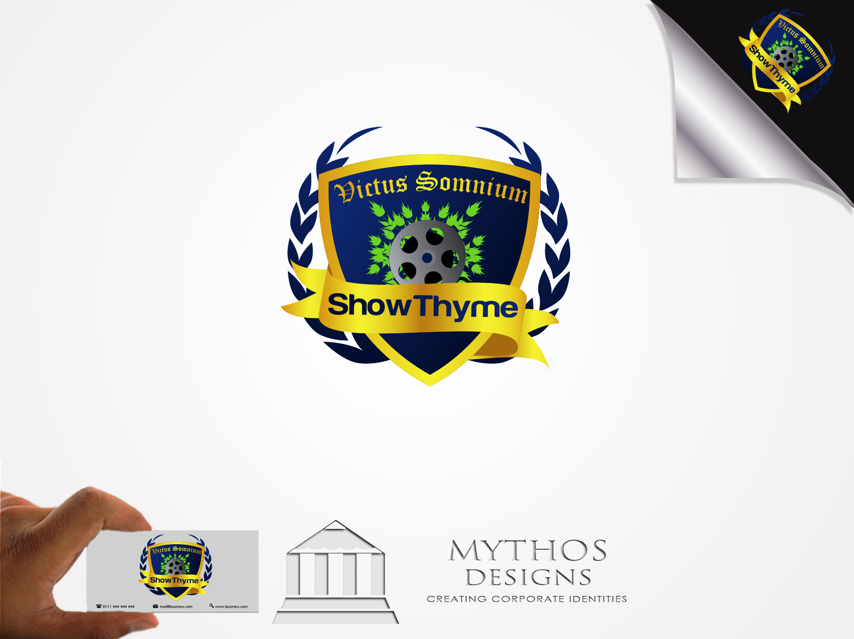 Logo Design by Mythos Designs - Entry No. 48 in the Logo Design Contest Showthyme Catering Logo Design.