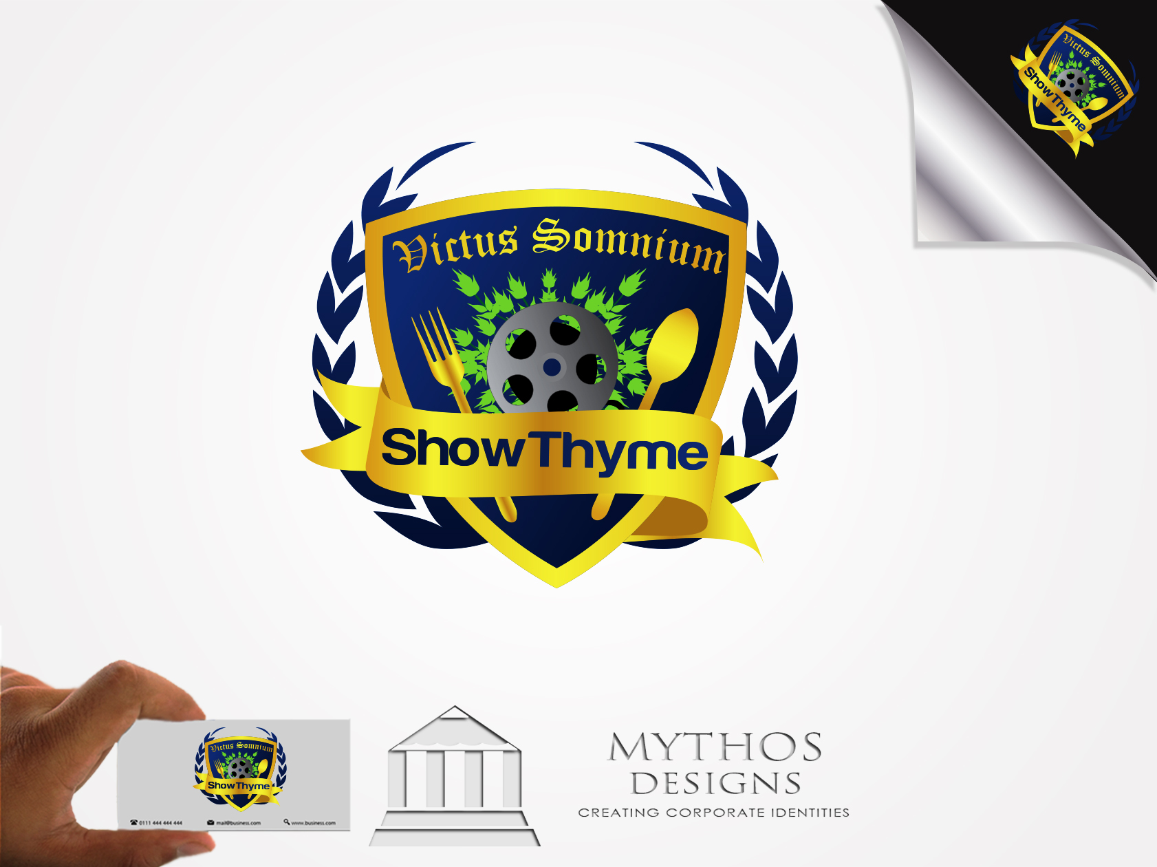 Logo Design by Mythos Designs - Entry No. 49 in the Logo Design Contest Showthyme Catering Logo Design.