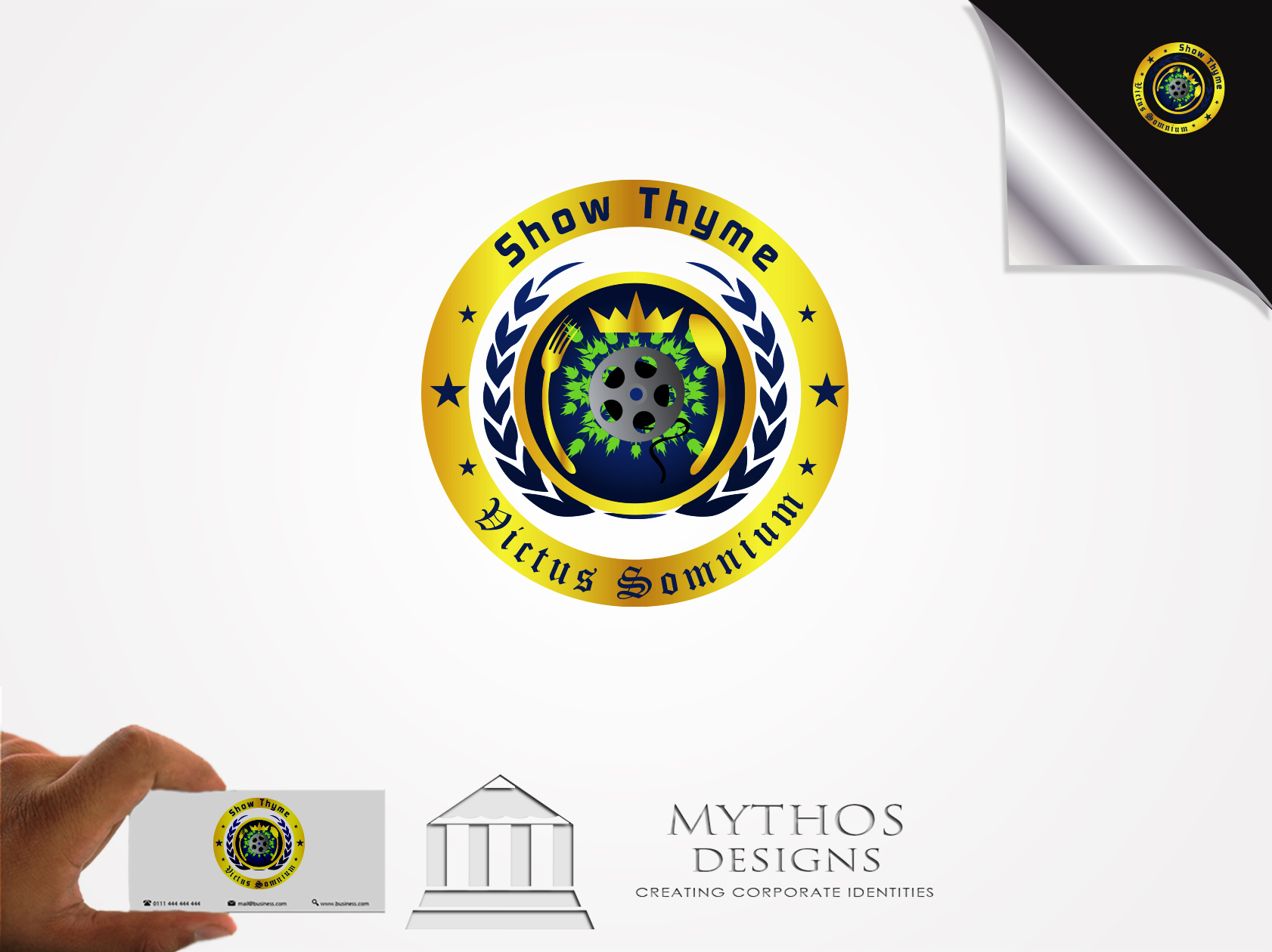 Logo Design by Mythos Designs - Entry No. 52 in the Logo Design Contest Showthyme Catering Logo Design.