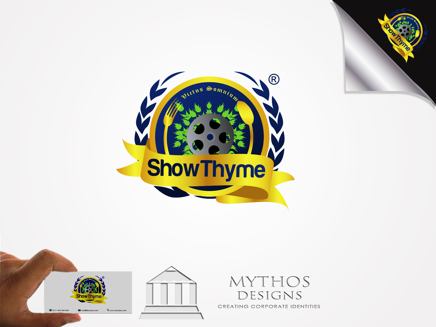 Logo Design by Mythos Designs - Entry No. 54 in the Logo Design Contest Showthyme Catering Logo Design.