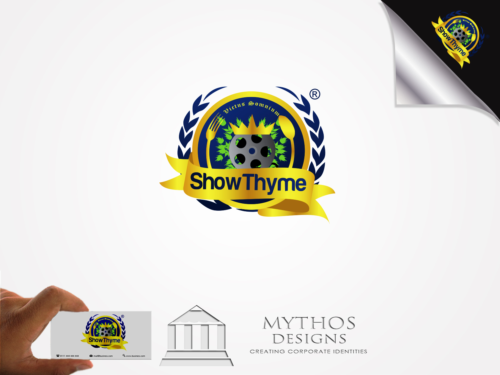 Logo Design by Mythos Designs - Entry No. 55 in the Logo Design Contest Showthyme Catering Logo Design.