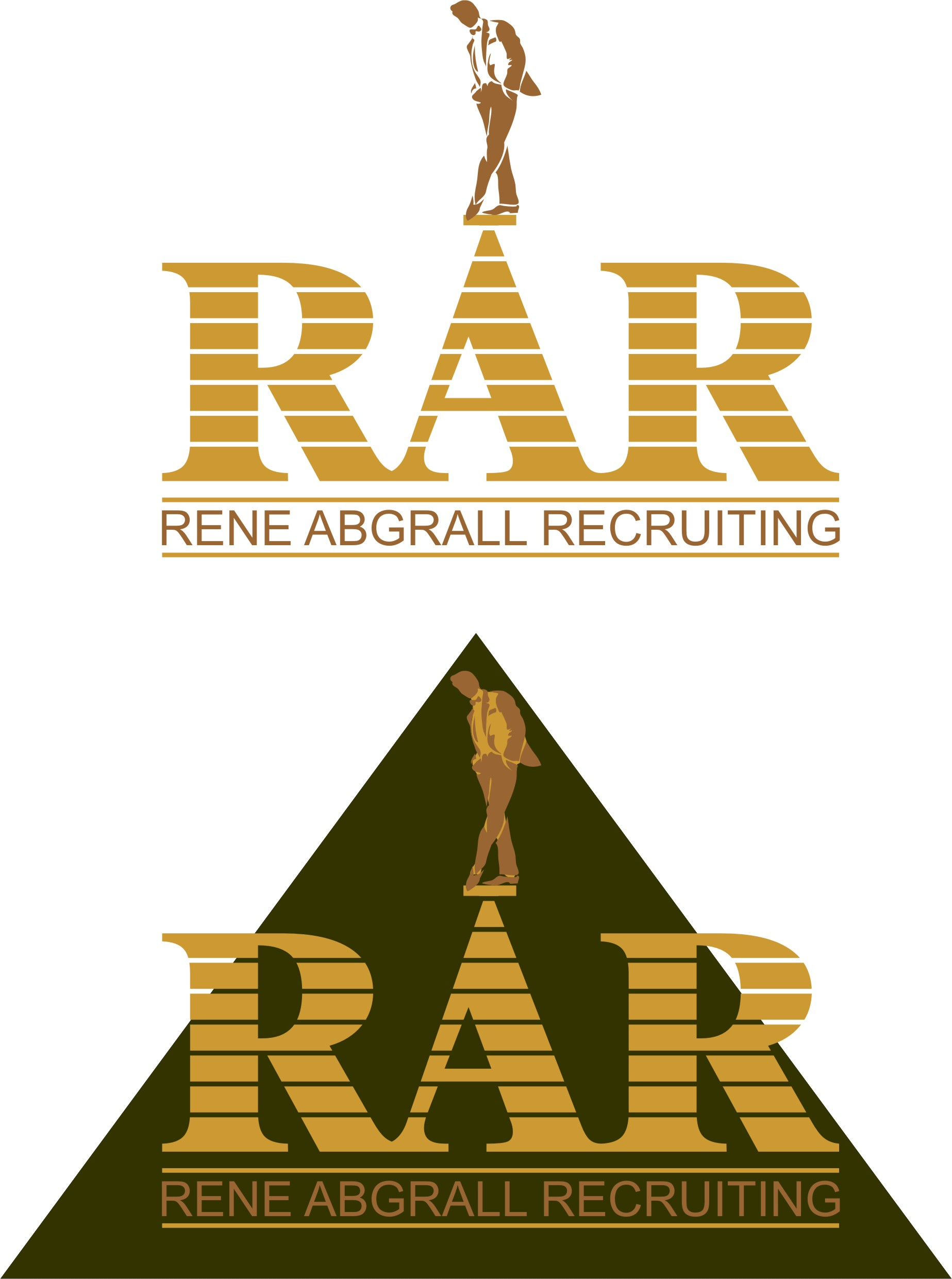 Logo Design by Korsunov Oleg - Entry No. 8 in the Logo Design Contest Artistic Logo Design for René Abgrall Recruiting.