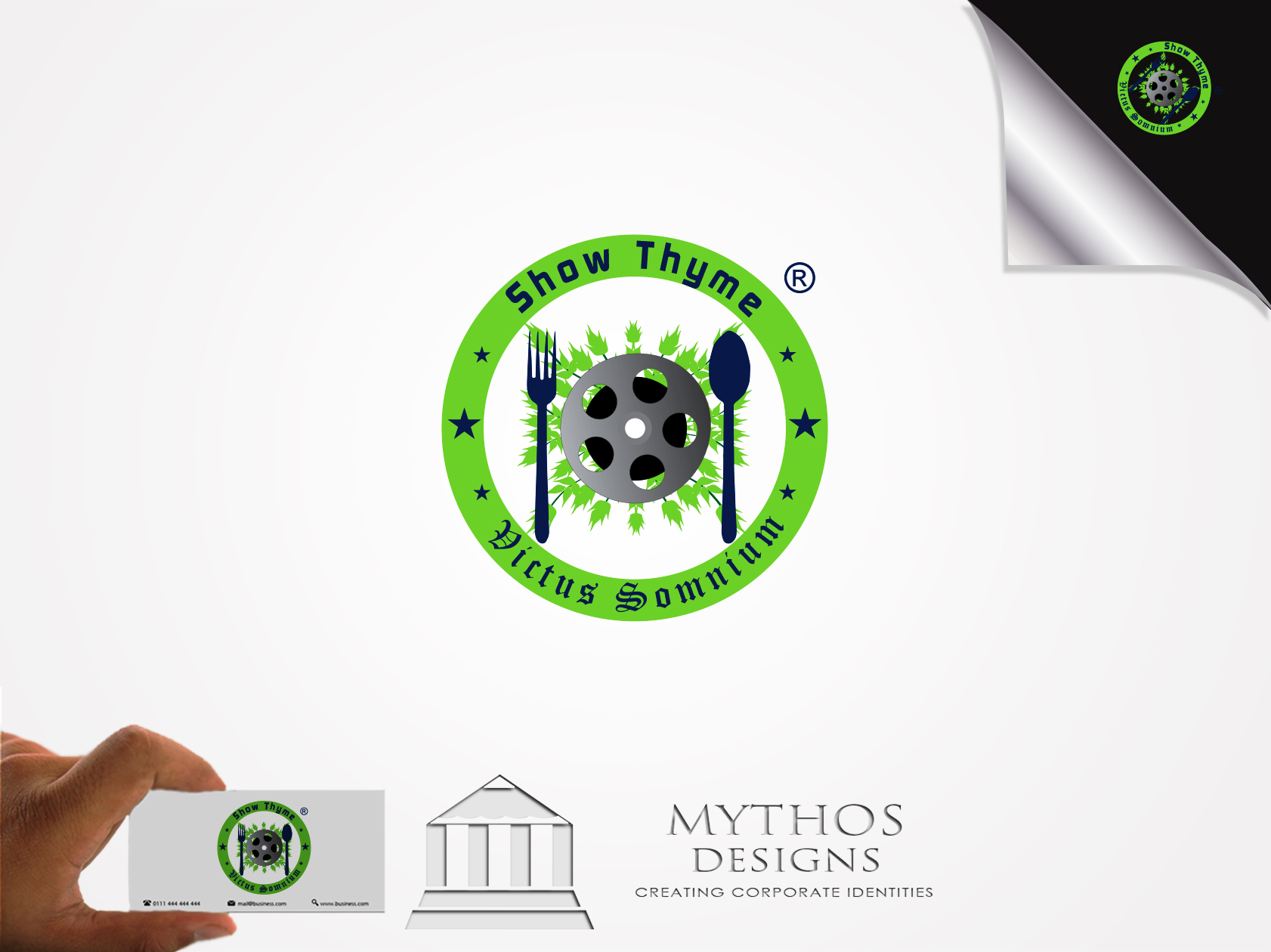 Logo Design by Mythos Designs - Entry No. 58 in the Logo Design Contest Showthyme Catering Logo Design.