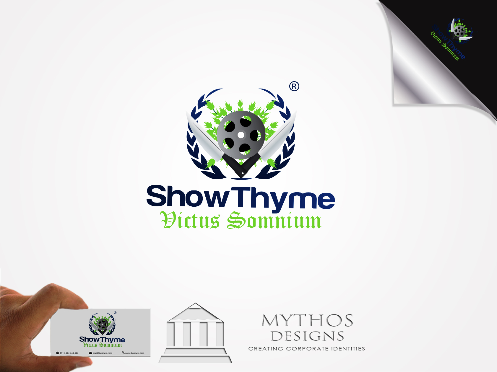 Logo Design by Mythos Designs - Entry No. 59 in the Logo Design Contest Showthyme Catering Logo Design.