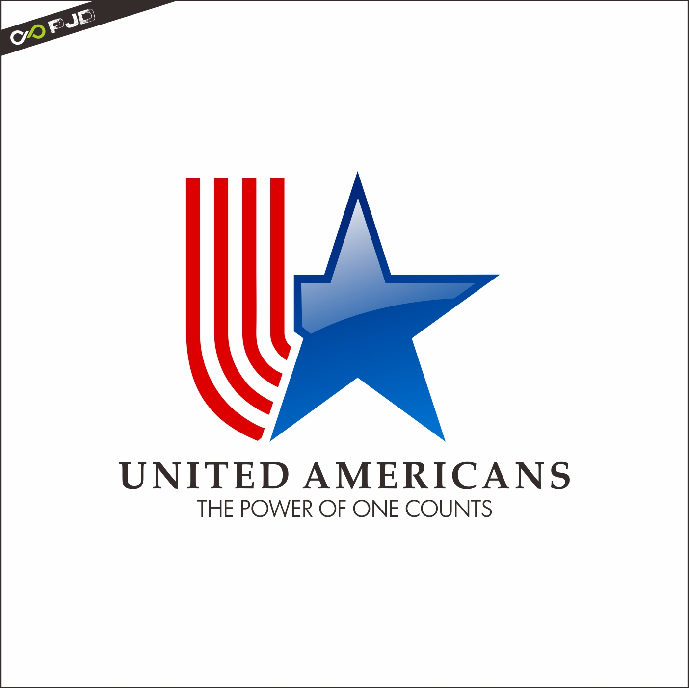 Logo Design by PJD - Entry No. 178 in the Logo Design Contest Creative Logo Design for United Americans.