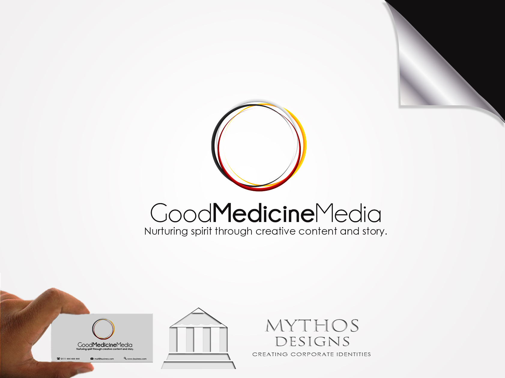 Logo Design by Mythos Designs - Entry No. 249 in the Logo Design Contest Good Medicine Media Logo Design.