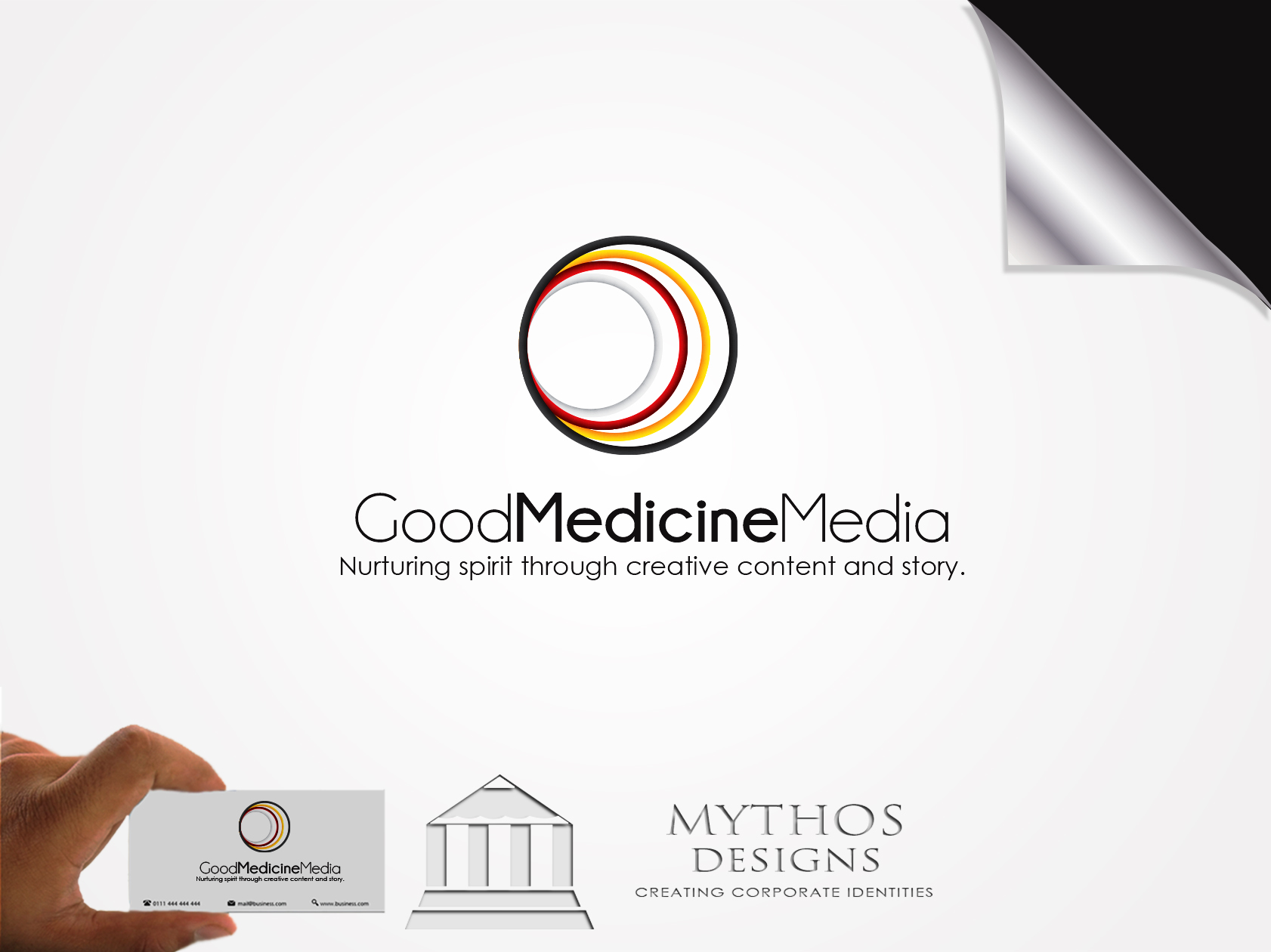 Logo Design by Mythos Designs - Entry No. 255 in the Logo Design Contest Good Medicine Media Logo Design.