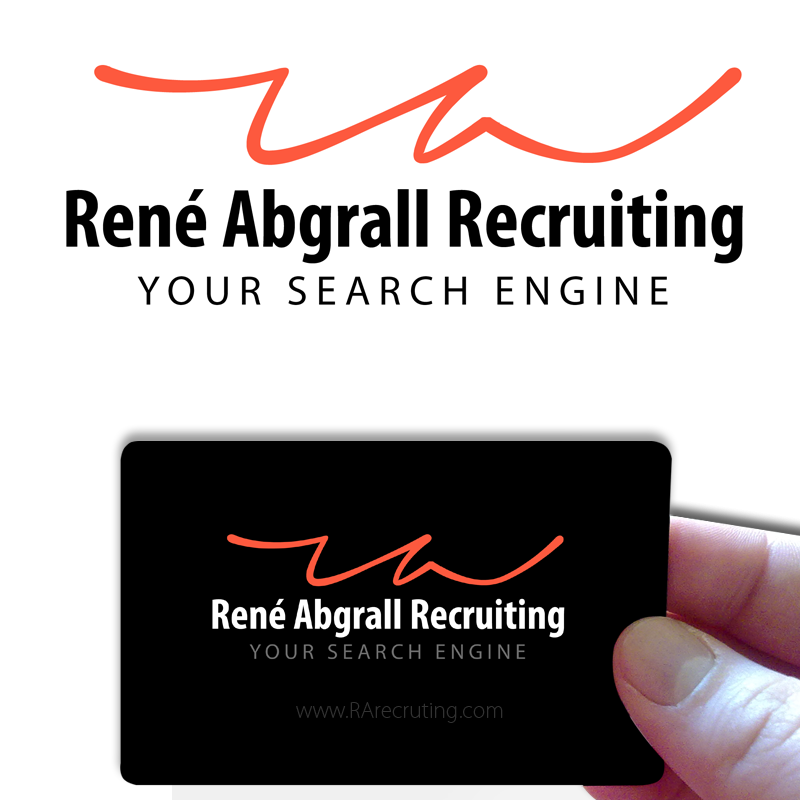 Logo Design by Private User - Entry No. 9 in the Logo Design Contest Artistic Logo Design for René Abgrall Recruiting.