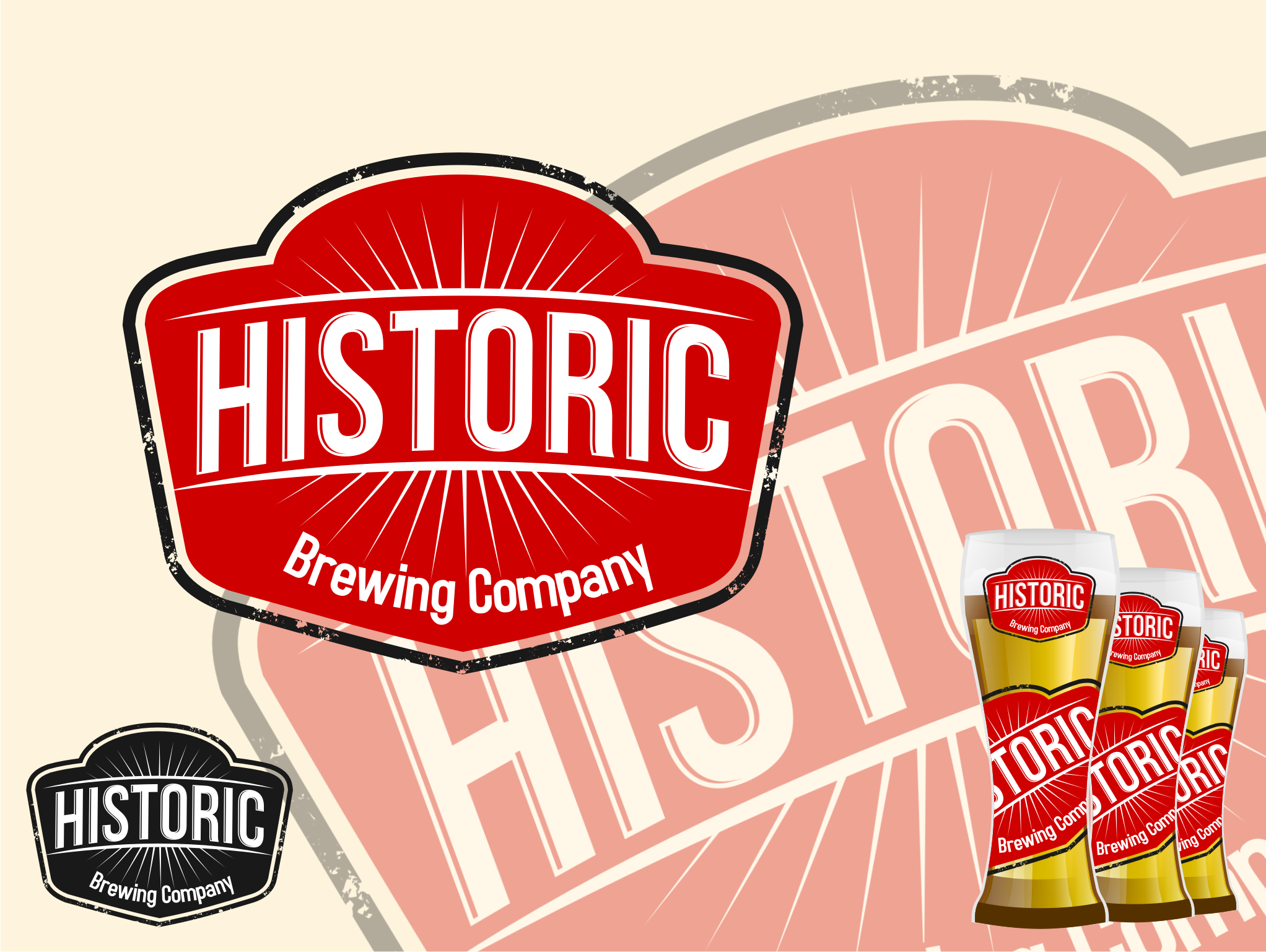 Logo Design by Tille Famz - Entry No. 9 in the Logo Design Contest Unique Logo Design Wanted for Historic Brewing Company.