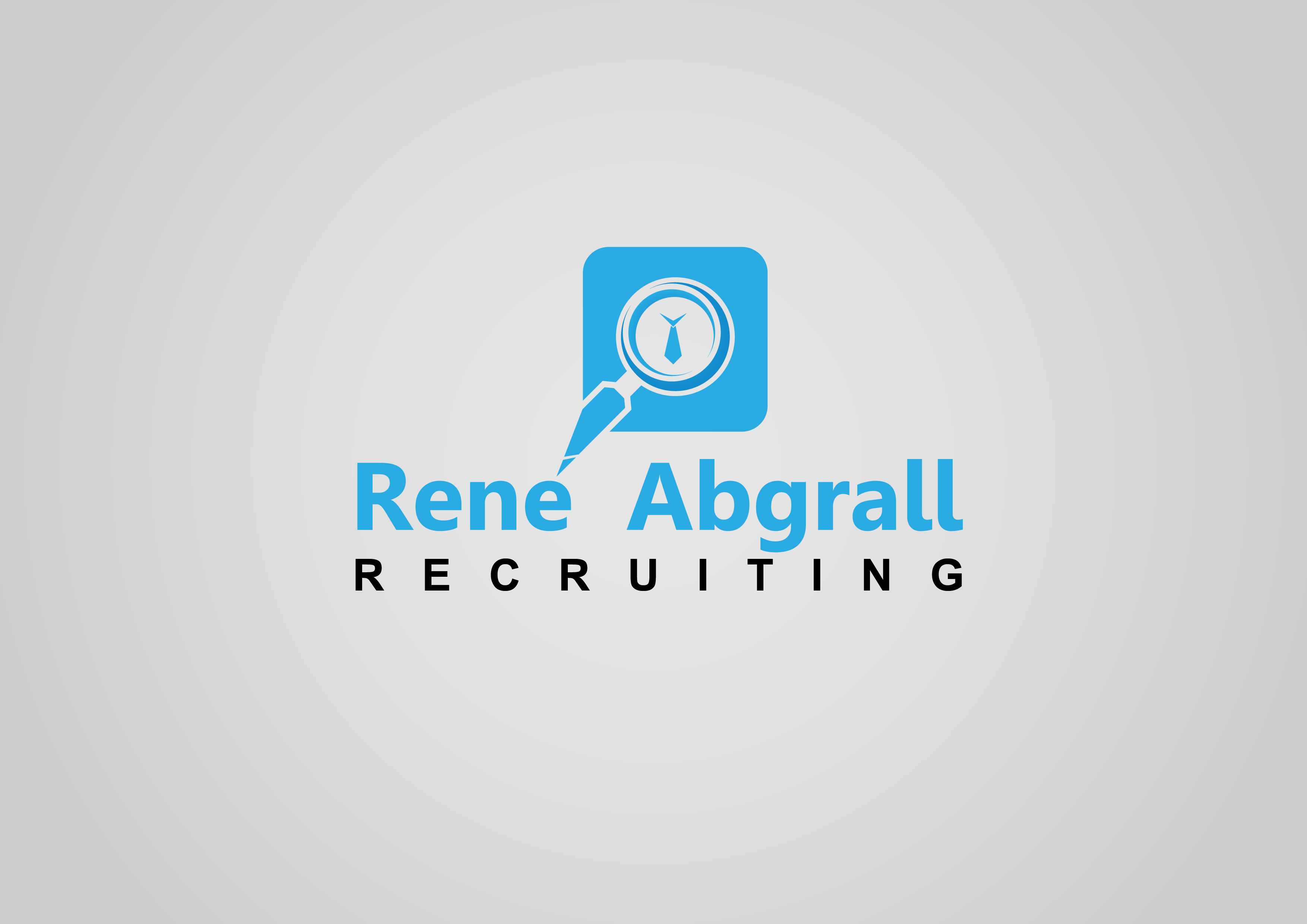 Logo Design by 3draw - Entry No. 10 in the Logo Design Contest Artistic Logo Design for René Abgrall Recruiting.