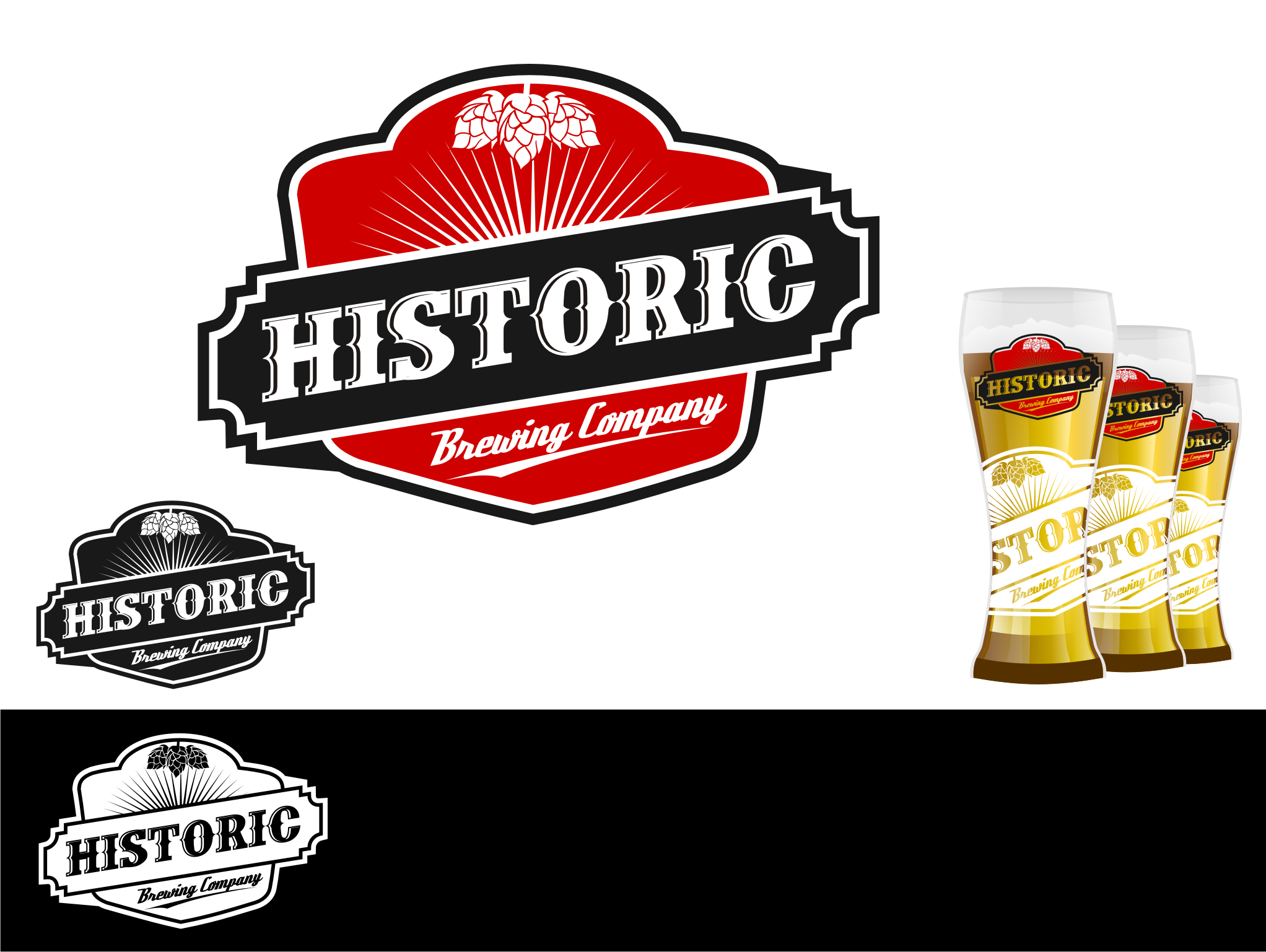 Logo Design by Tille Famz - Entry No. 10 in the Logo Design Contest Unique Logo Design Wanted for Historic Brewing Company.