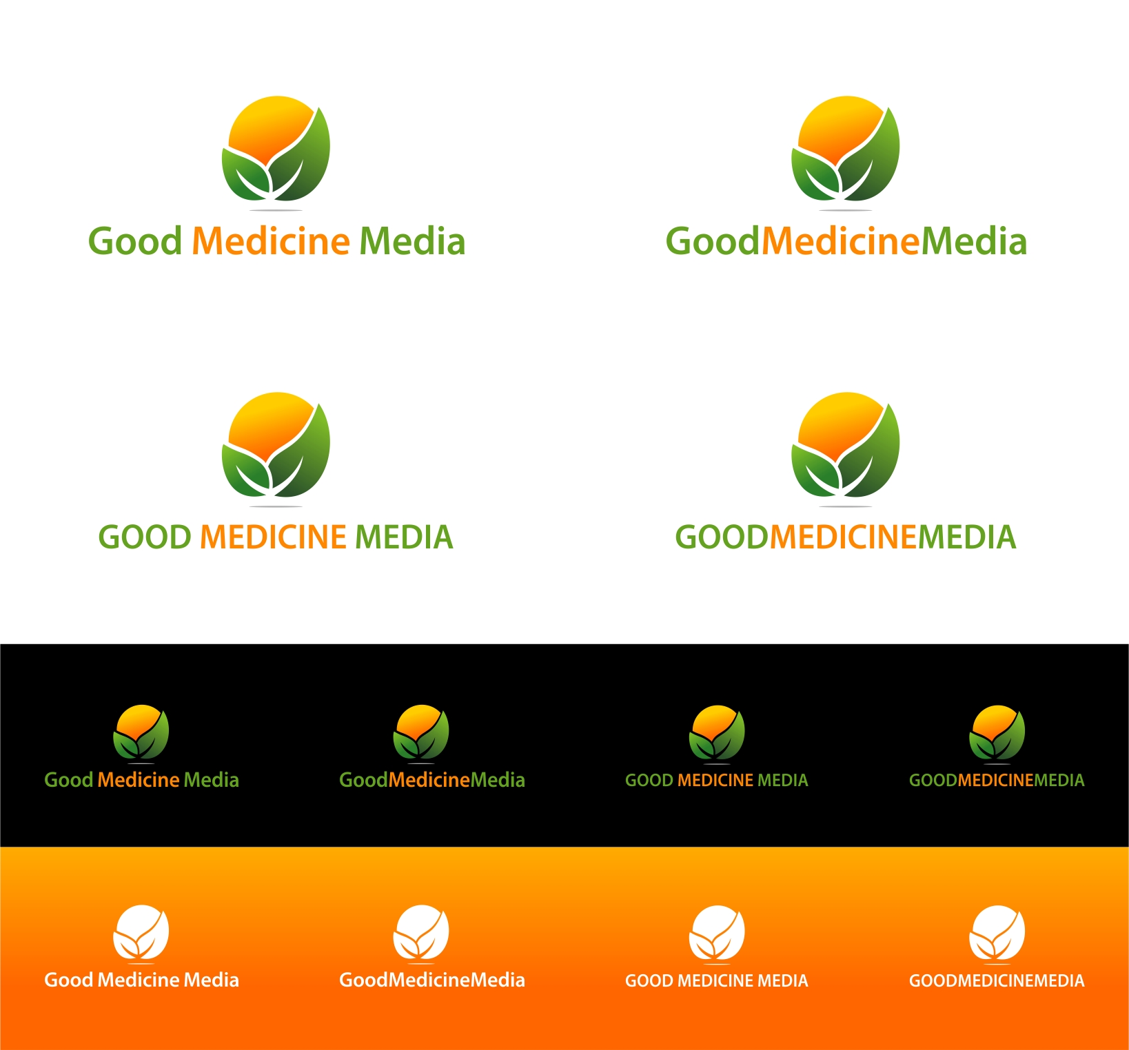 Logo Design by haidu - Entry No. 271 in the Logo Design Contest Good Medicine Media Logo Design.
