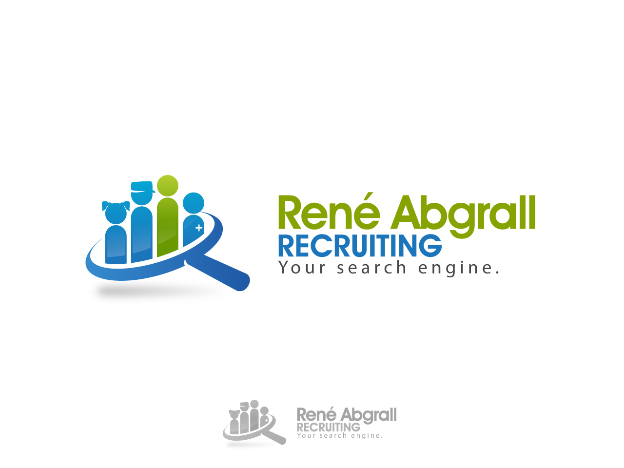 Logo Design by jpbituin - Entry No. 11 in the Logo Design Contest Artistic Logo Design for René Abgrall Recruiting.