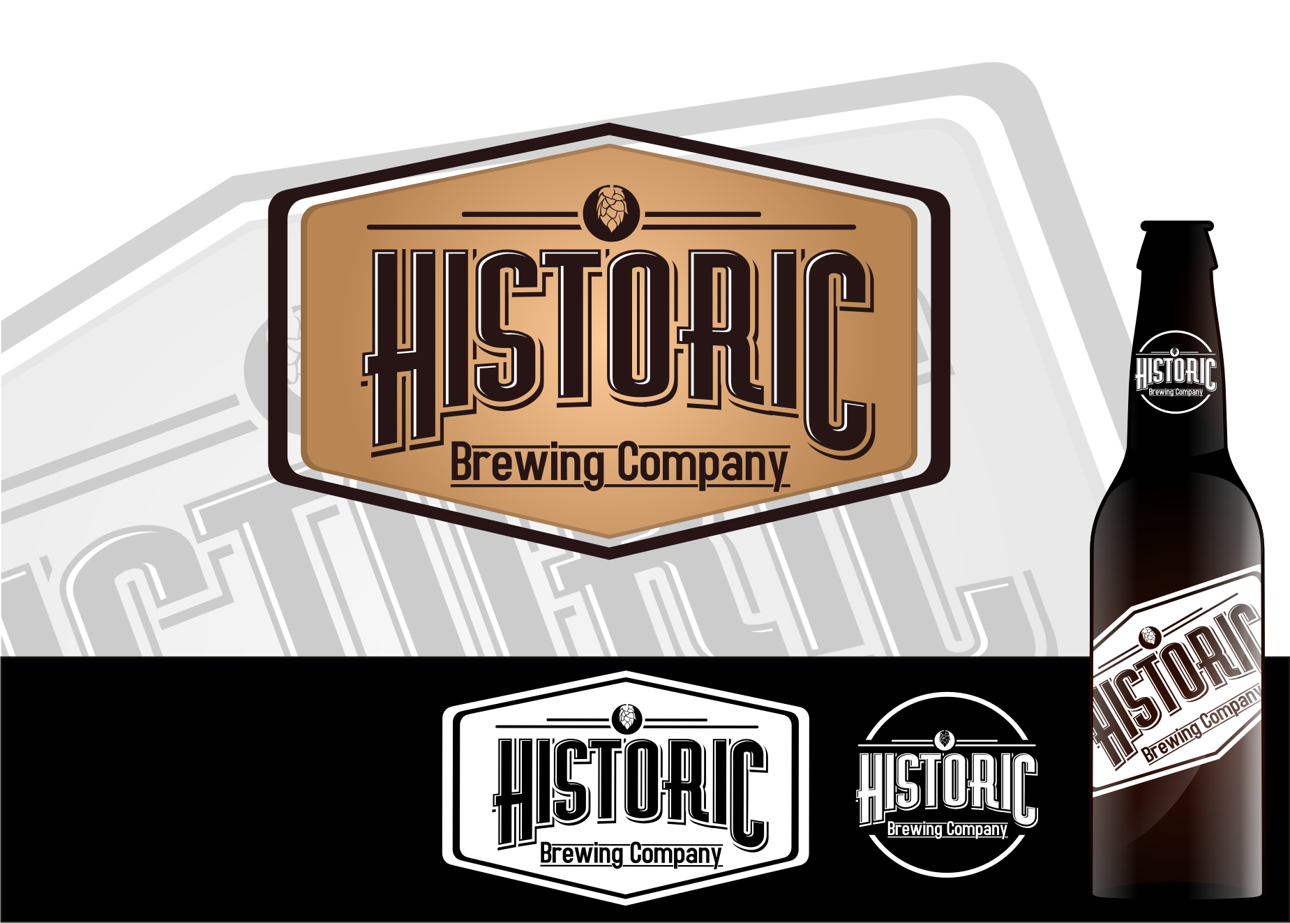 Logo Design by Tille Famz - Entry No. 13 in the Logo Design Contest Unique Logo Design Wanted for Historic Brewing Company.
