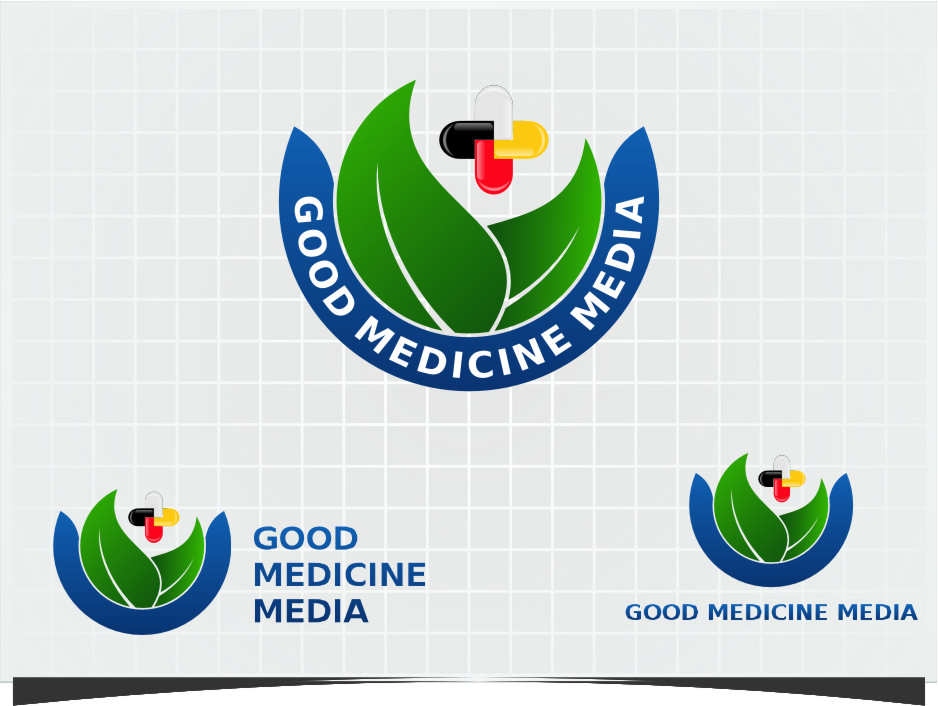 Logo Design by Ngepet_art - Entry No. 281 in the Logo Design Contest Good Medicine Media Logo Design.
