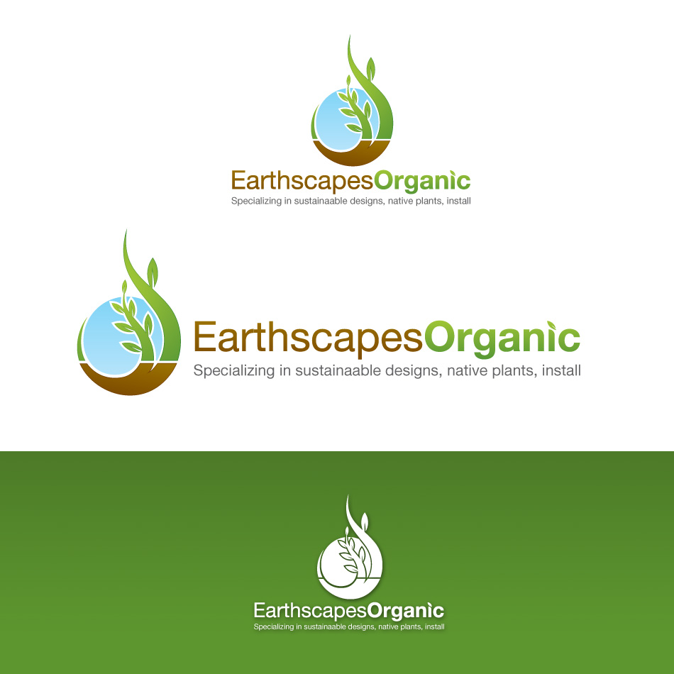 Logo Design by stevanga - Entry No. 67 in the Logo Design Contest Earthscapes Organic.