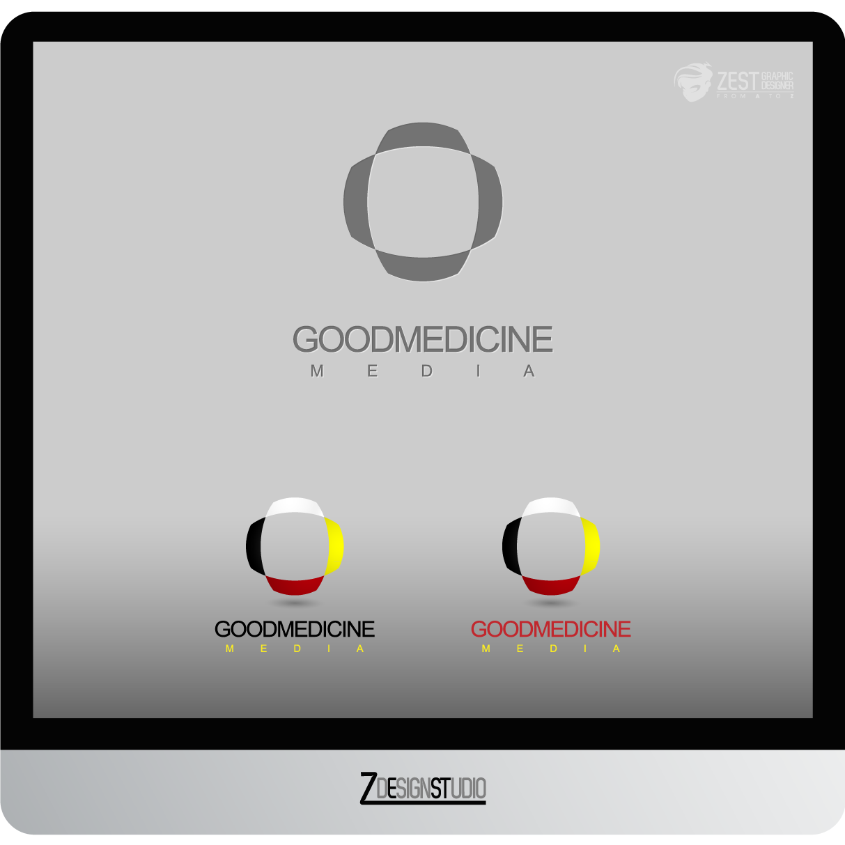 Logo Design by zesthar - Entry No. 282 in the Logo Design Contest Good Medicine Media Logo Design.