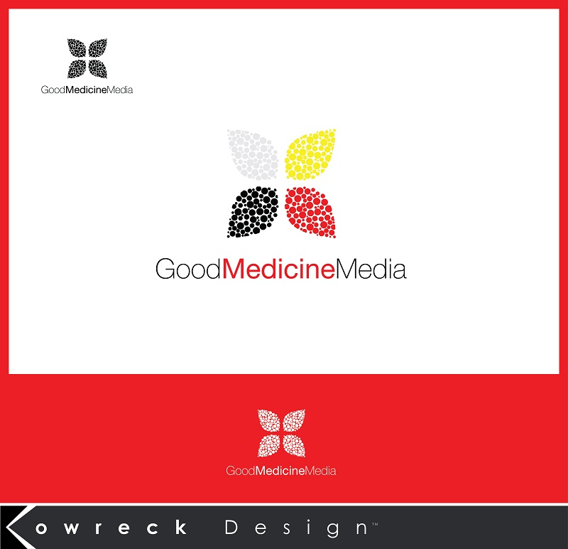 Logo Design by kowreck - Entry No. 284 in the Logo Design Contest Good Medicine Media Logo Design.