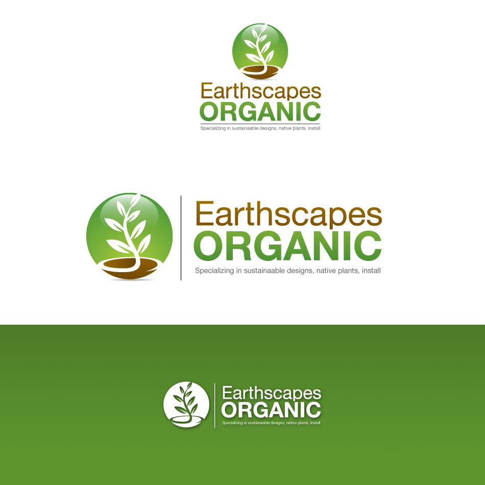 Logo Design by stevanga - Entry No. 70 in the Logo Design Contest Earthscapes Organic.