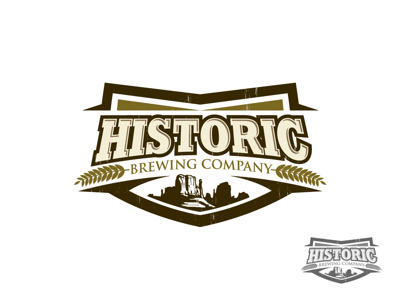 Logo Design by jpbituin - Entry No. 21 in the Logo Design Contest Unique Logo Design Wanted for Historic Brewing Company.