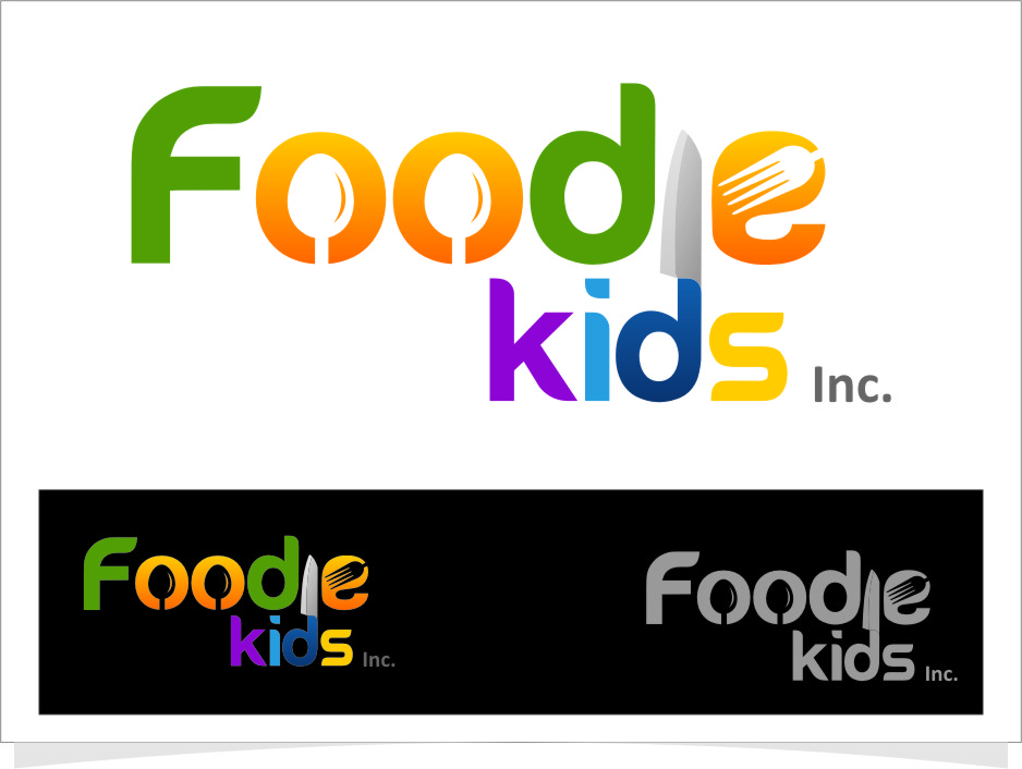 Logo Design by Ngepet_art - Entry No. 10 in the Logo Design Contest New Logo Design for Foodie Kids Inc..