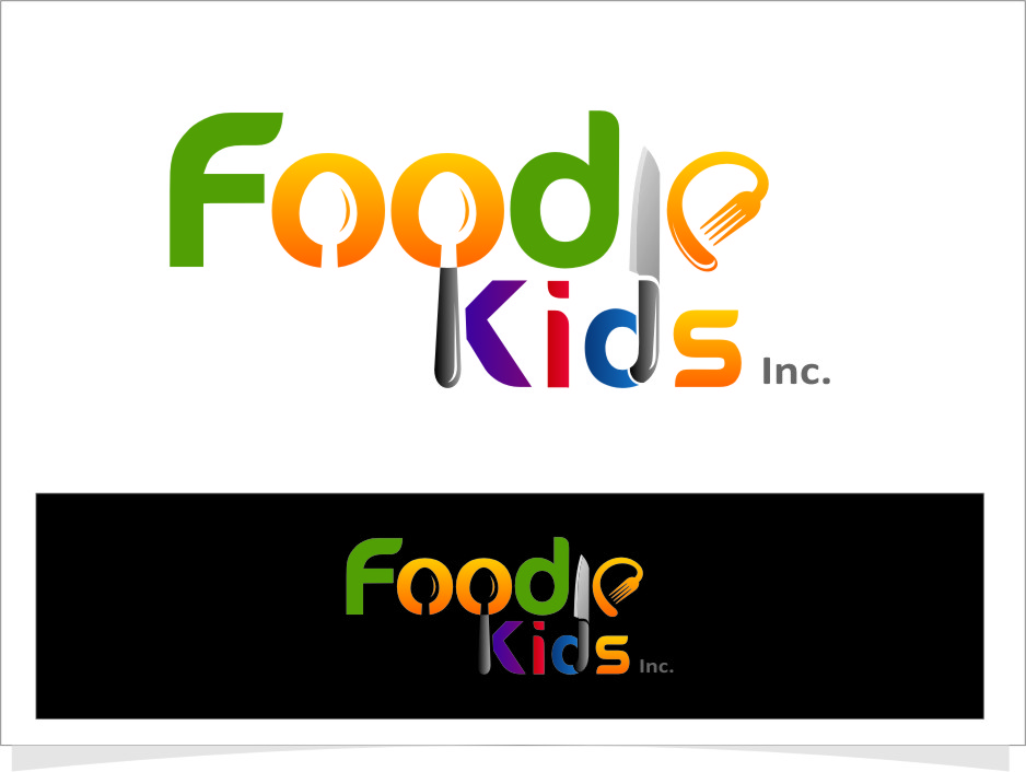 Logo Design by RasYa Muhammad Athaya - Entry No. 15 in the Logo Design Contest New Logo Design for Foodie Kids Inc..