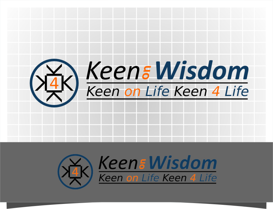 Logo Design by Ngepet_art - Entry No. 69 in the Logo Design Contest Logo Design for Keen on Wisdom, Keen for Life, Keen 4 Life.