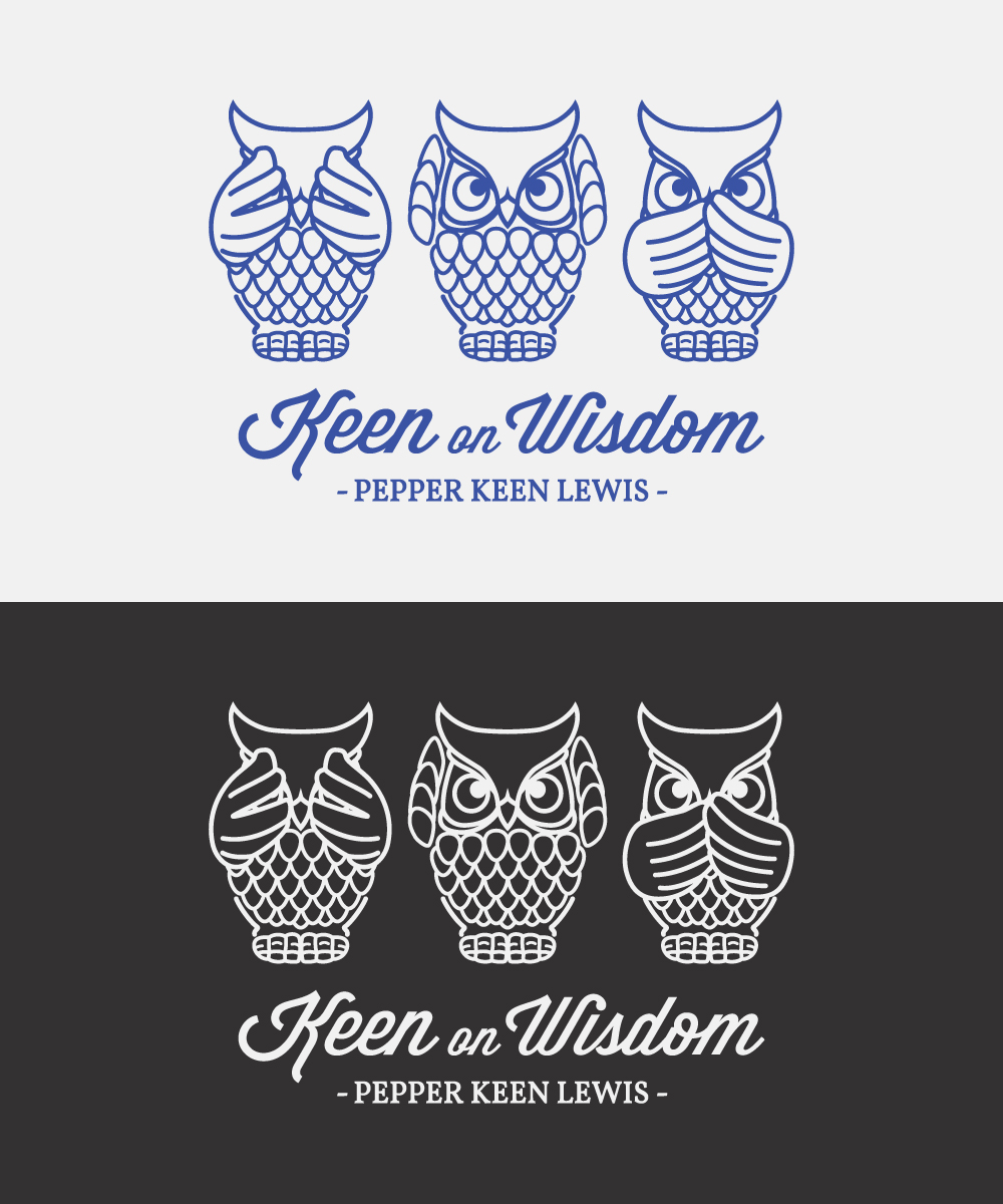 Logo Design by Mathias Frisa - Entry No. 73 in the Logo Design Contest Logo Design for Keen on Wisdom, Keen for Life, Keen 4 Life.