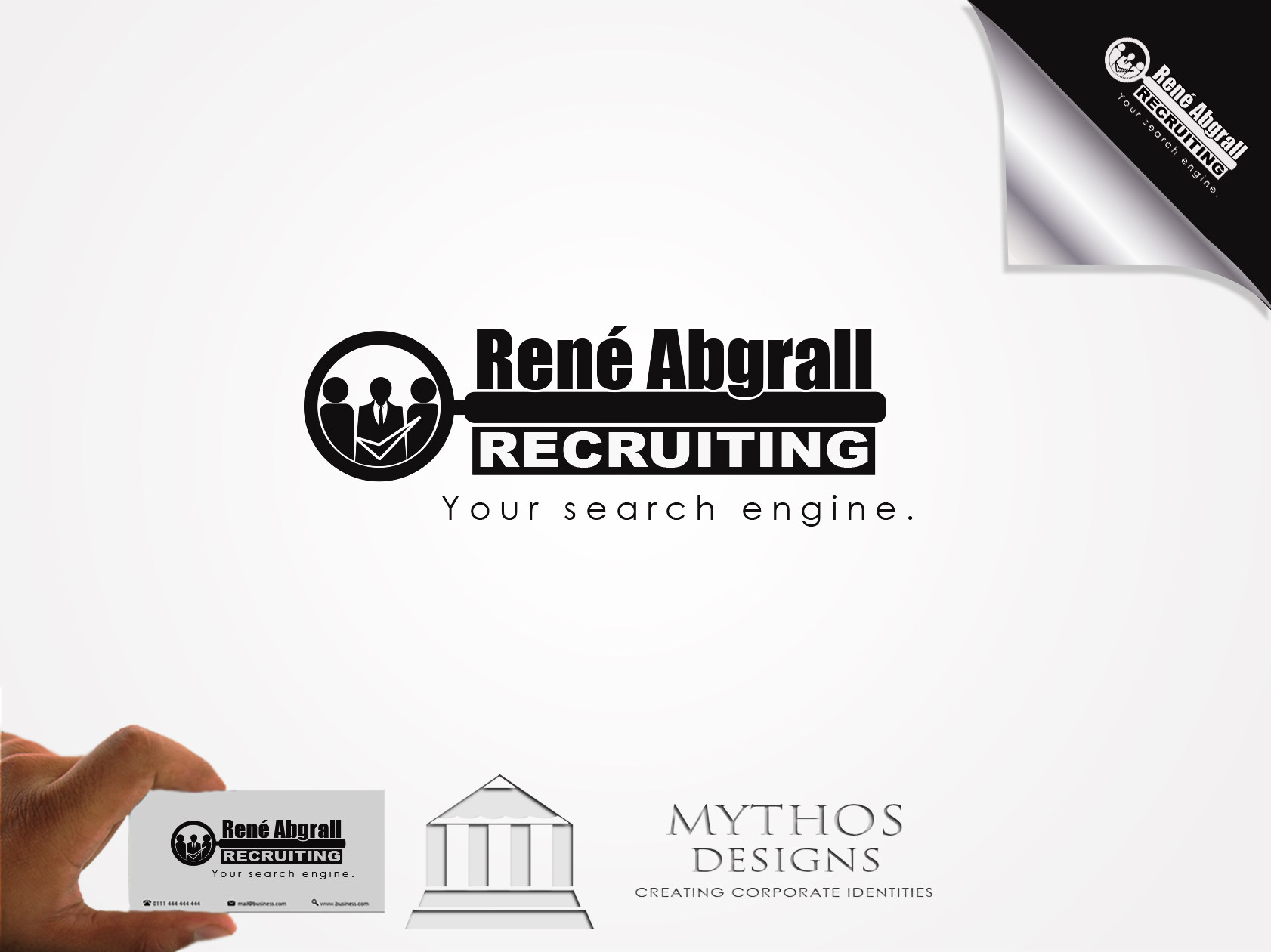 Logo Design by Mythos Designs - Entry No. 14 in the Logo Design Contest Artistic Logo Design for René Abgrall Recruiting.