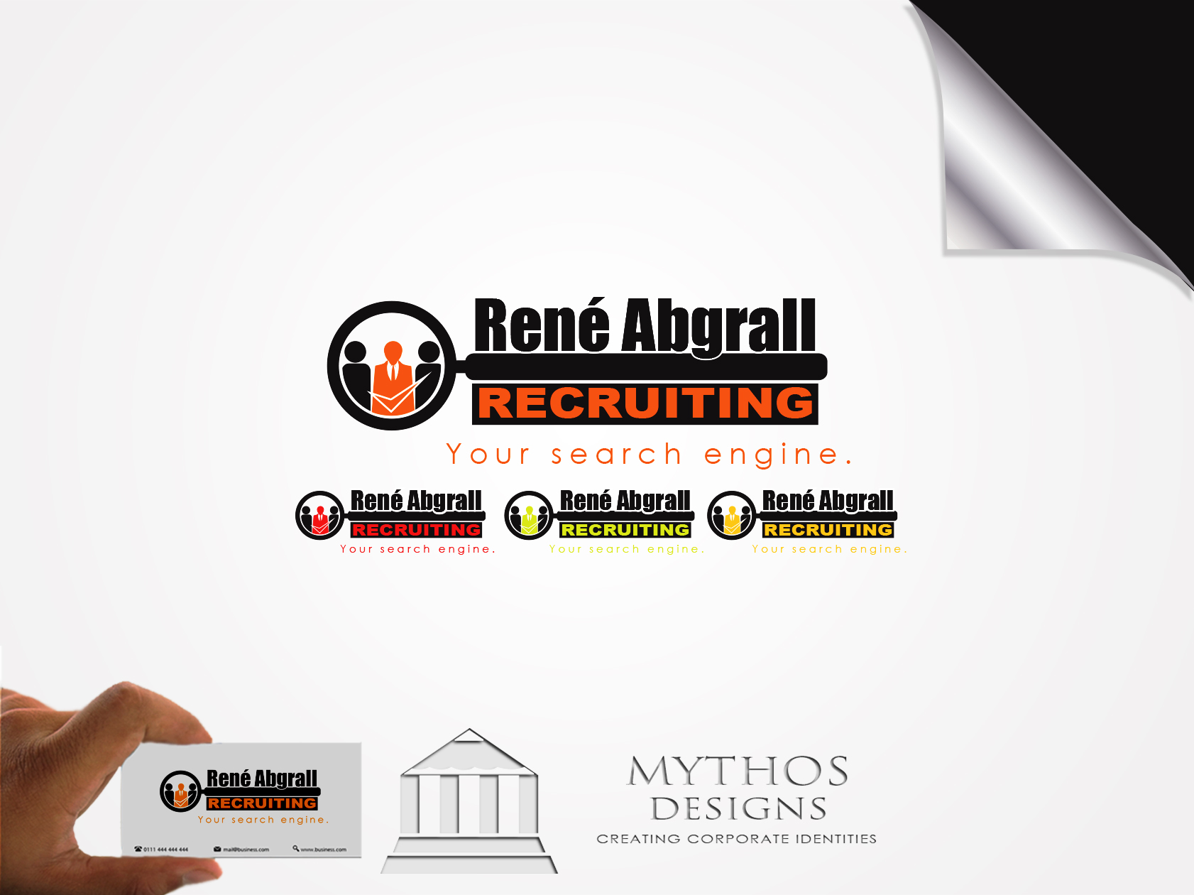 Logo Design by Mythos Designs - Entry No. 15 in the Logo Design Contest Artistic Logo Design for René Abgrall Recruiting.