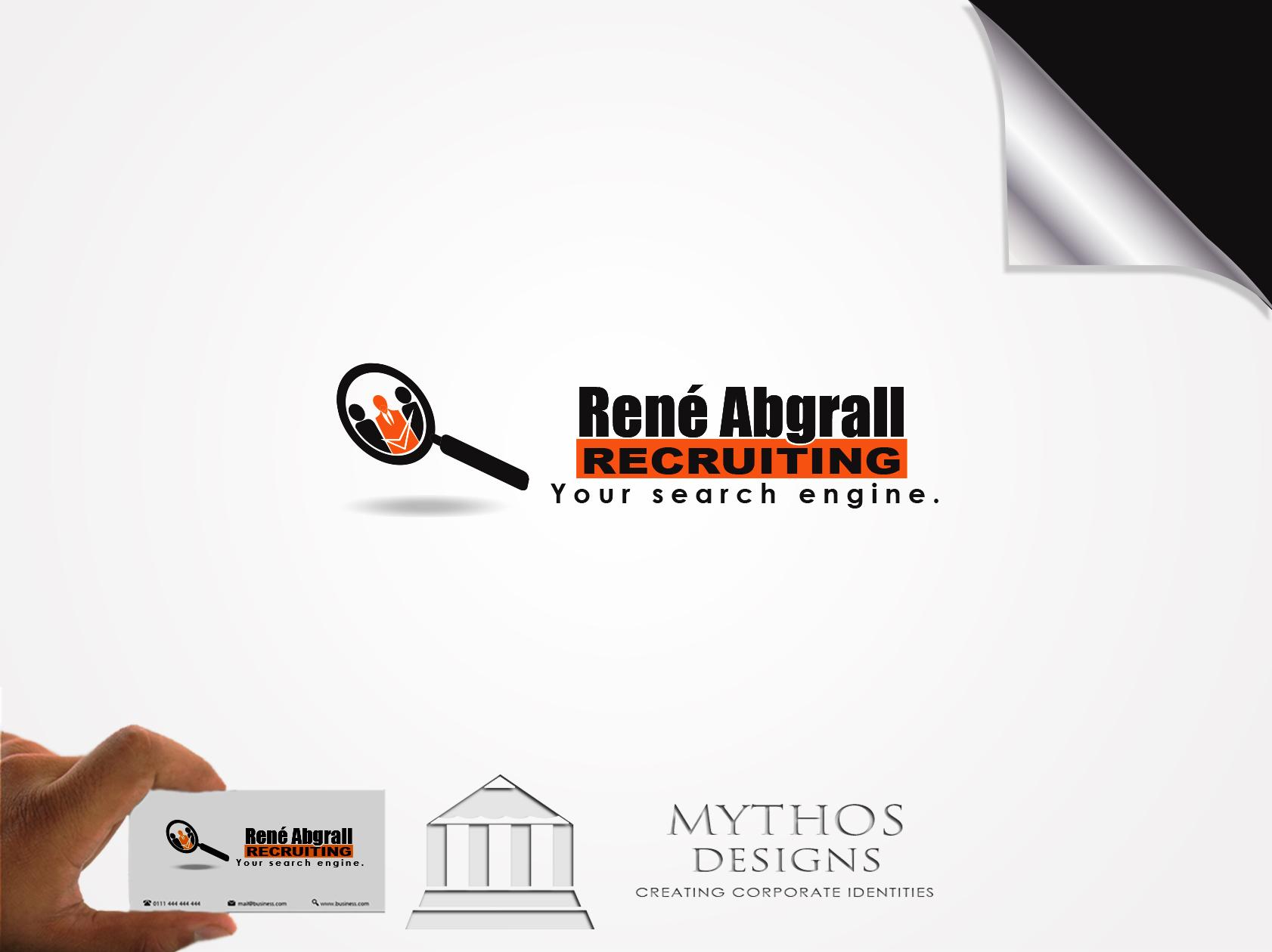 Logo Design by Mythos Designs - Entry No. 16 in the Logo Design Contest Artistic Logo Design for René Abgrall Recruiting.