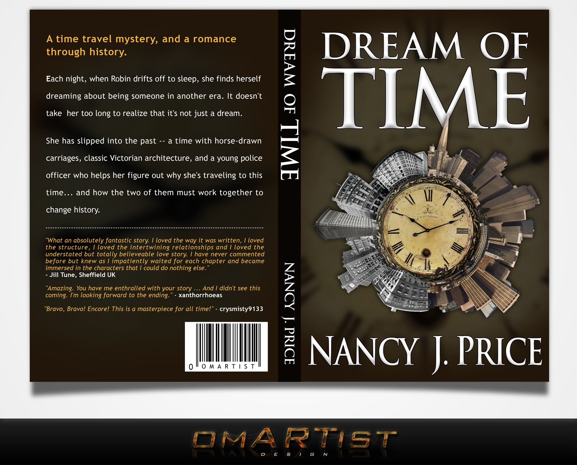 Book Cover Design by omARTist - Entry No. 24 in the Book Cover Design Contest Fun Book Cover Design for Dream of Time.