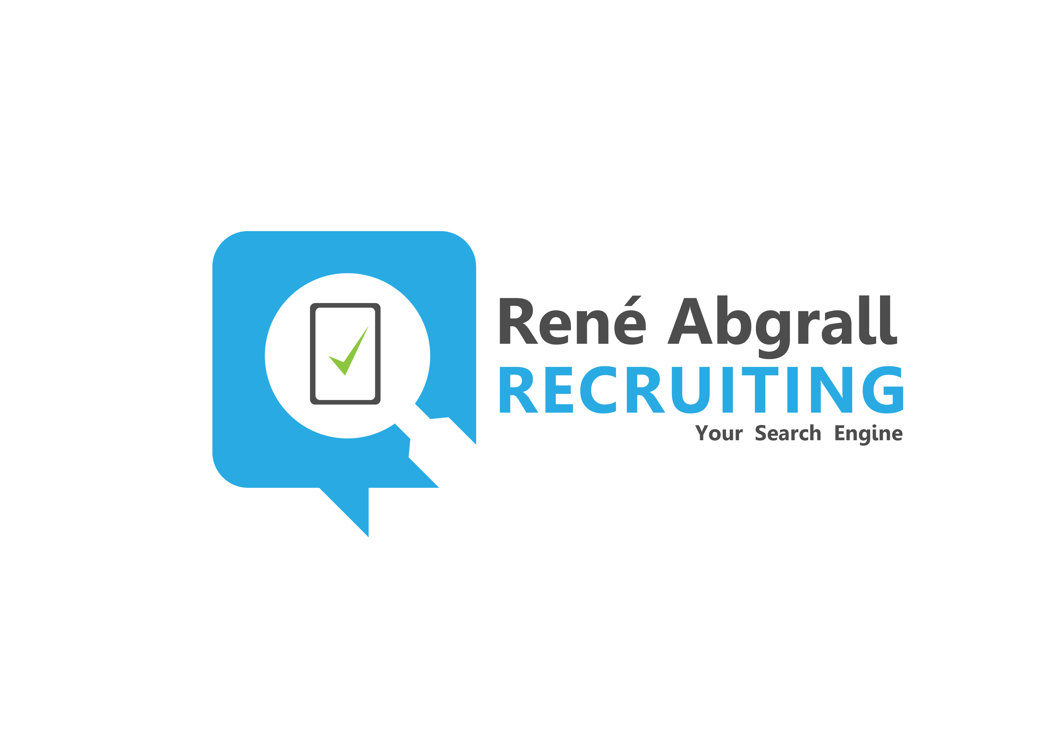 Logo Design by 3draw - Entry No. 18 in the Logo Design Contest Artistic Logo Design for René Abgrall Recruiting.