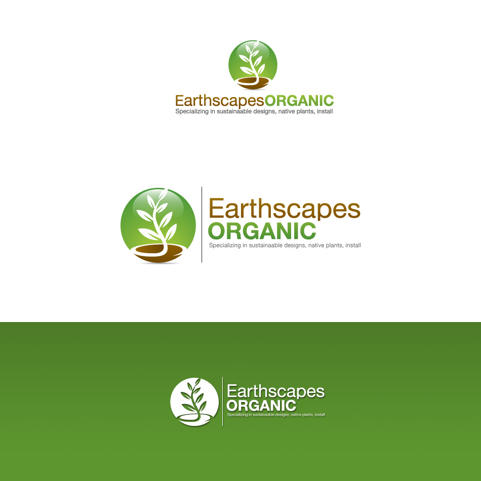 Logo Design by stevanga - Entry No. 78 in the Logo Design Contest Earthscapes Organic.