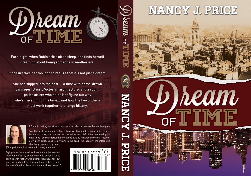 Book Cover Design by nausigeo - Entry No. 30 in the Book Cover Design Contest Fun Book Cover Design for Dream of Time.
